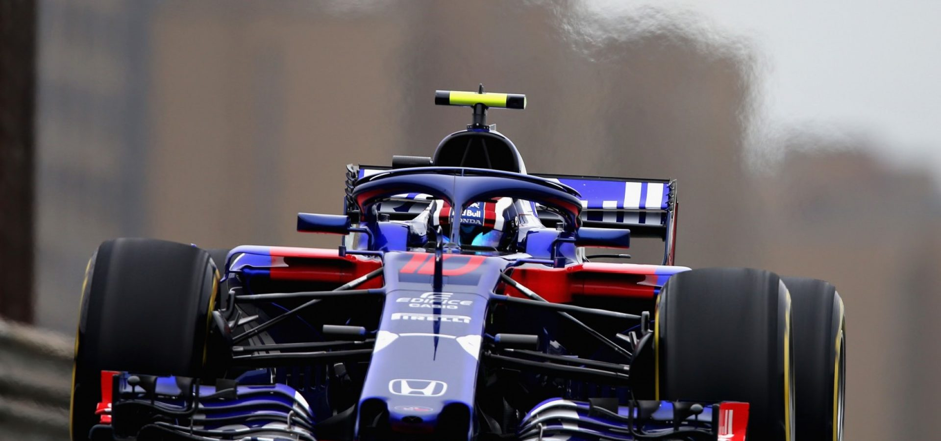 SHANGHAI, CHINA - APRIL 13: Pierre Gasly of France and Scuderia Toro Rosso driving the (10) Scuderia Toro Rosso STR13 Honda on track during practice for the Formula One Grand Prix of China at Shanghai International Circuit on April 13, 2018 in Shanghai, China.  (Photo by Charles Coates/Getty Images)