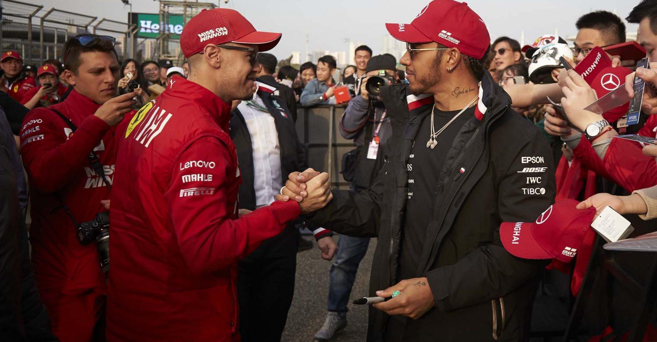 2019 Chinese Grand Prix, Thursday - Steve Etherington Sebastian Vettel, Lewis Hamilton