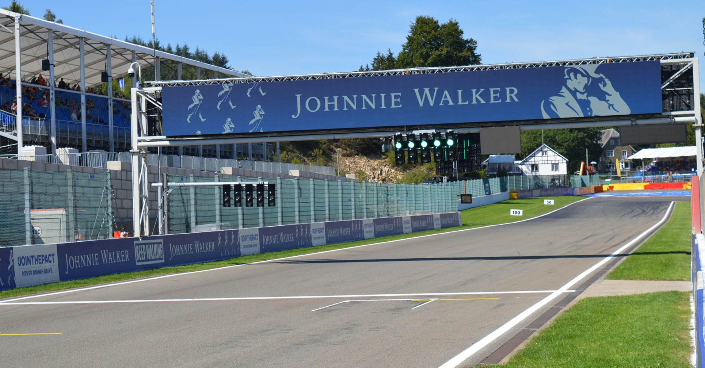 Spa-Francorchamps Start-finish line, Johnnie Walker, Belgian Grand Prix 2019