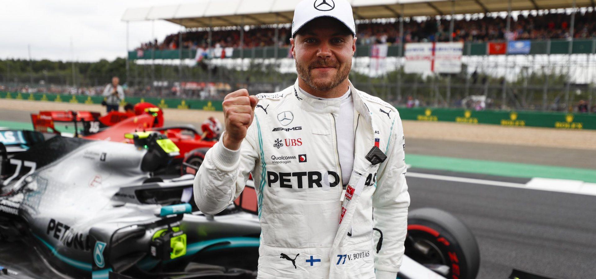 Valtteri Bottas, Mercedes, pole, British GP 2019, Silverstone