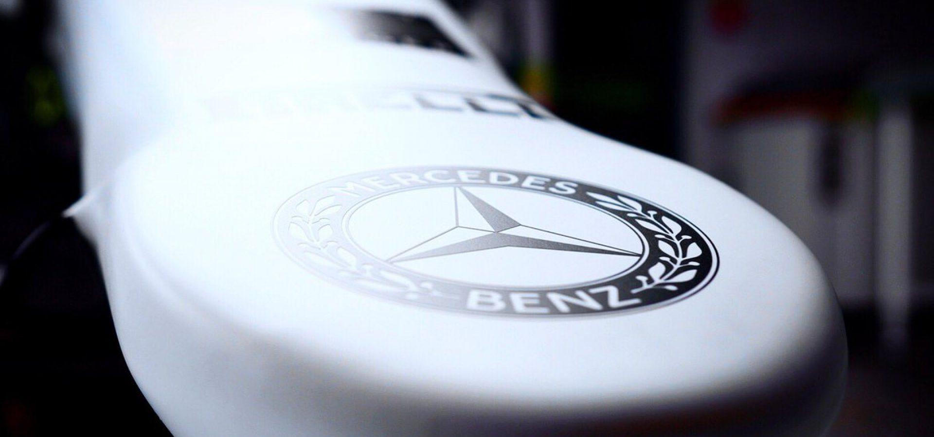 Mercedes heritage logo, Hockenheim, Mercedes nose