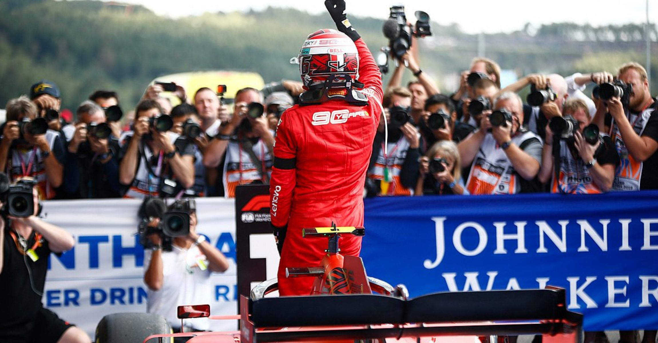 Charles Leclerc's first win with Ferrari, Belgian Grand Prix 2019,