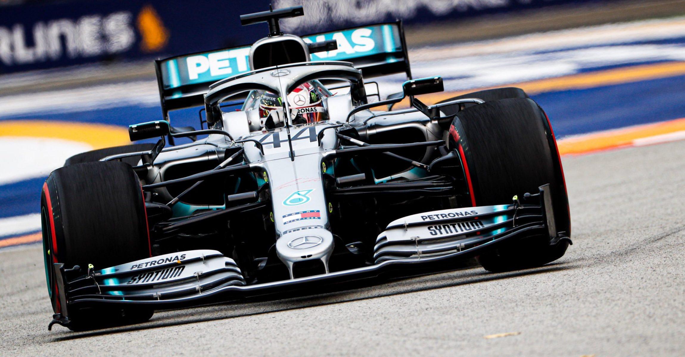 Lewis Hamilton, Mercedes, Singapore 2019, FP1
