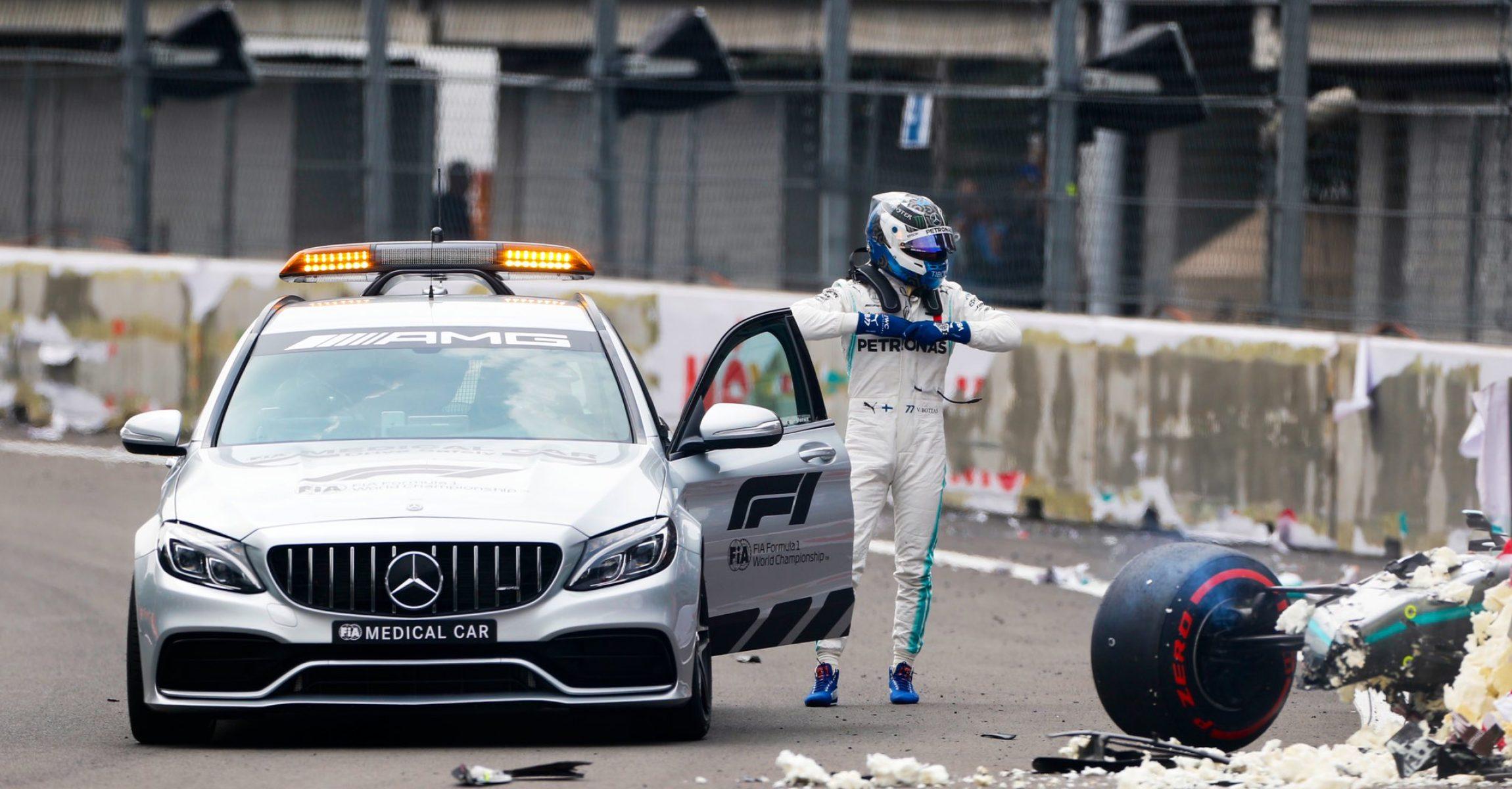 Mercedes, Medical Car, Valtteri Bottas, crash