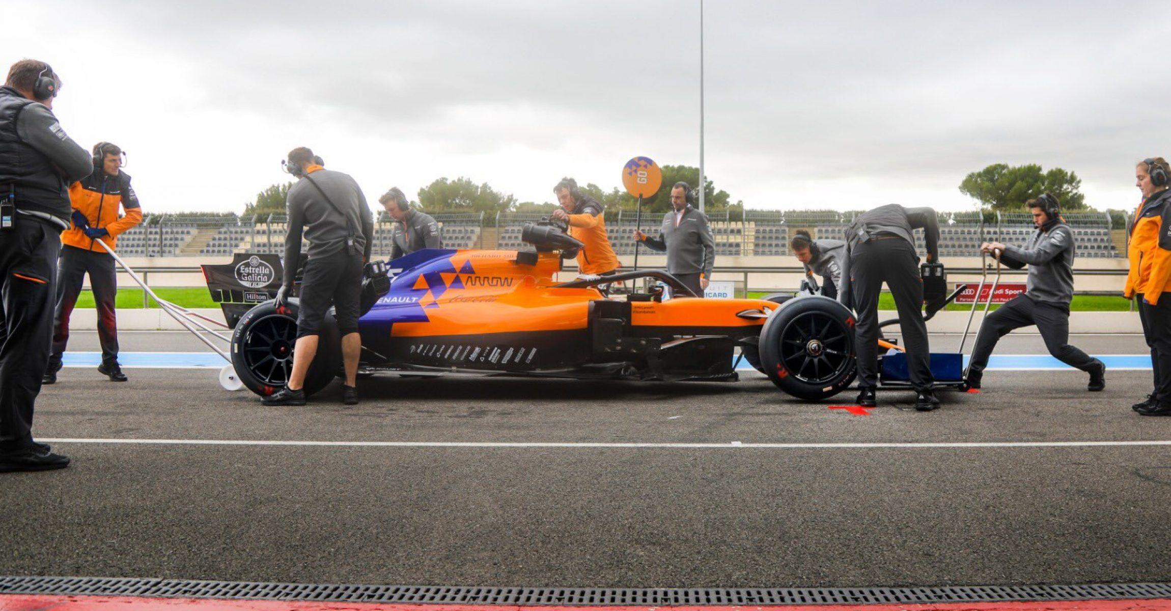 F1 McLaren 2021 Pirelli 18 inch tyre test