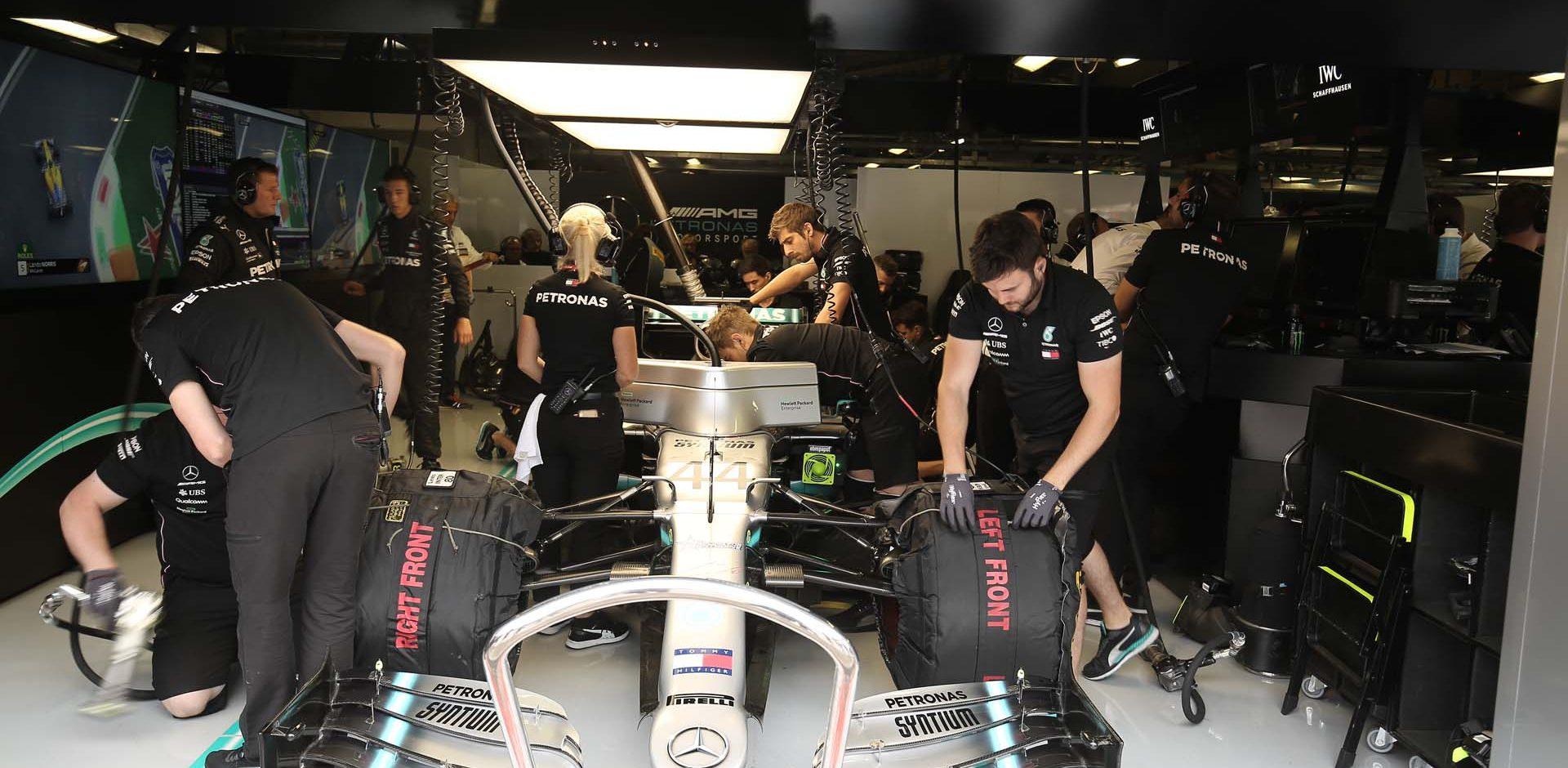Italy, Italian Grand Prix 2019, Monza,  Lewis Hamilton Mercedes garage