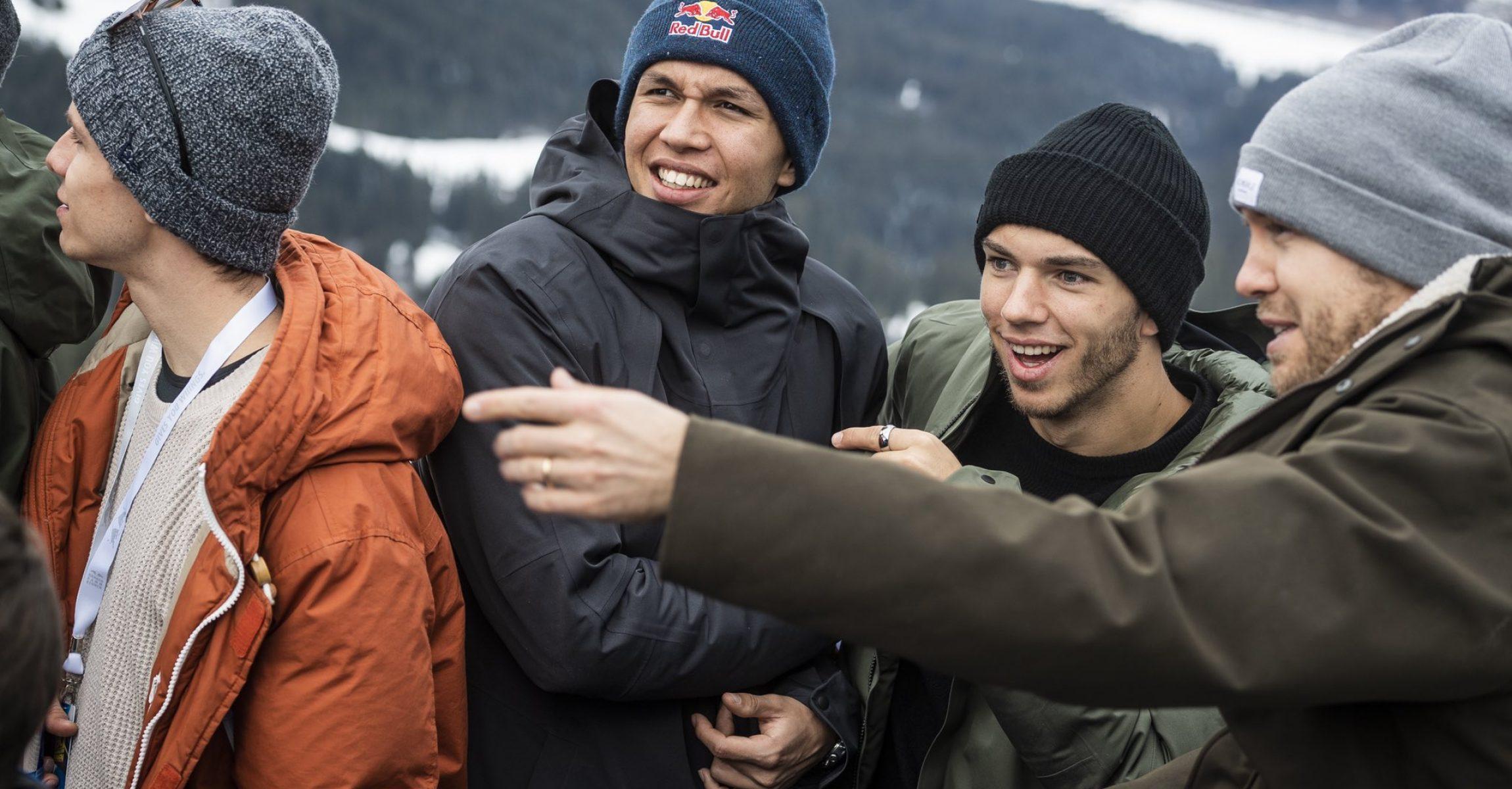 Alexander Albon, Pierre Gasly, Sebastian Vettel