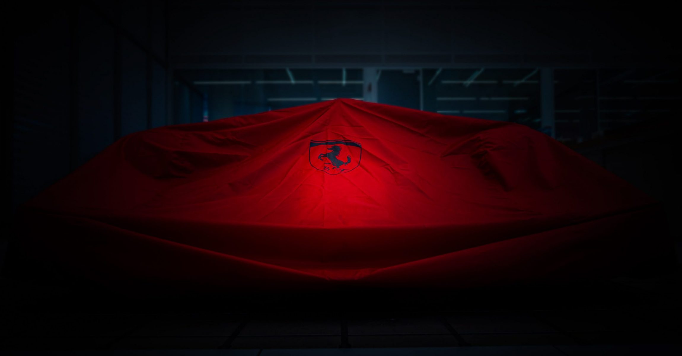 Ferrari F1 car, car launch, covered