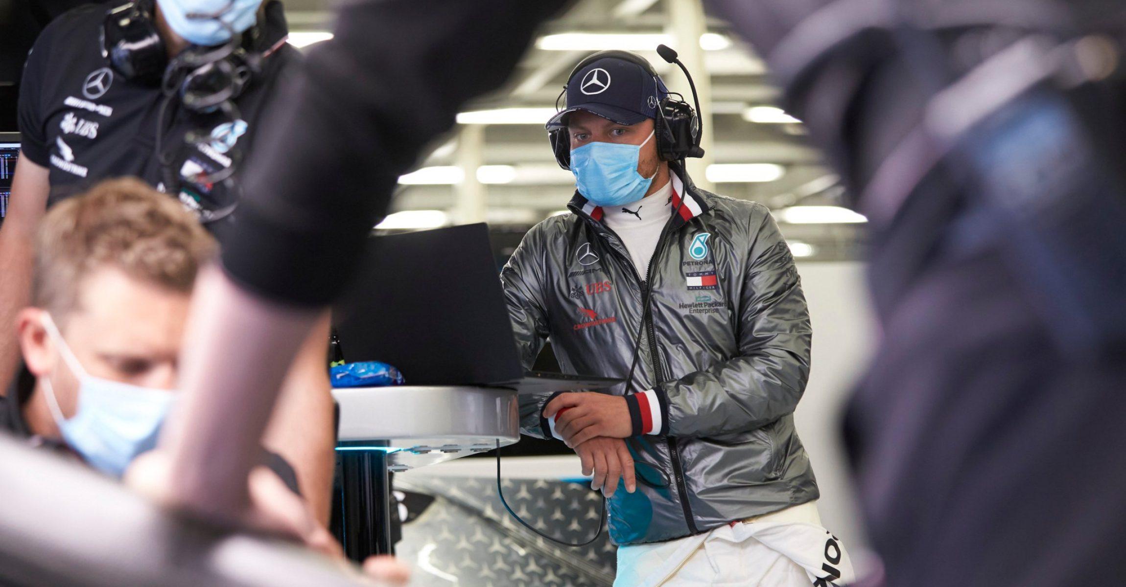 Valtteri Bottas Mercedes facemask