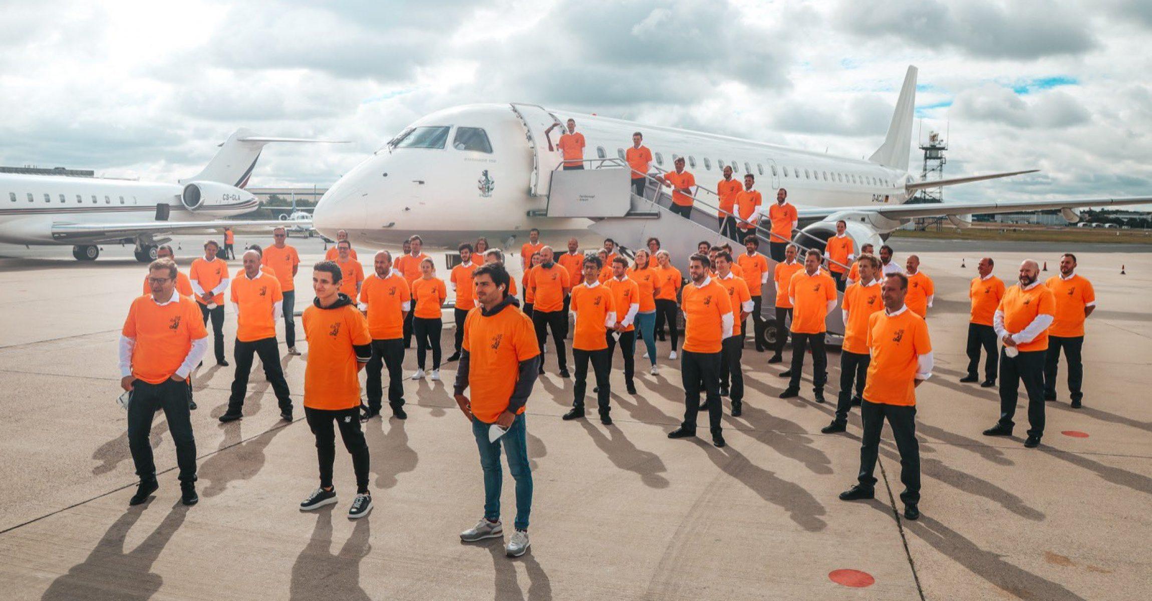 McLaren team flight to Austria