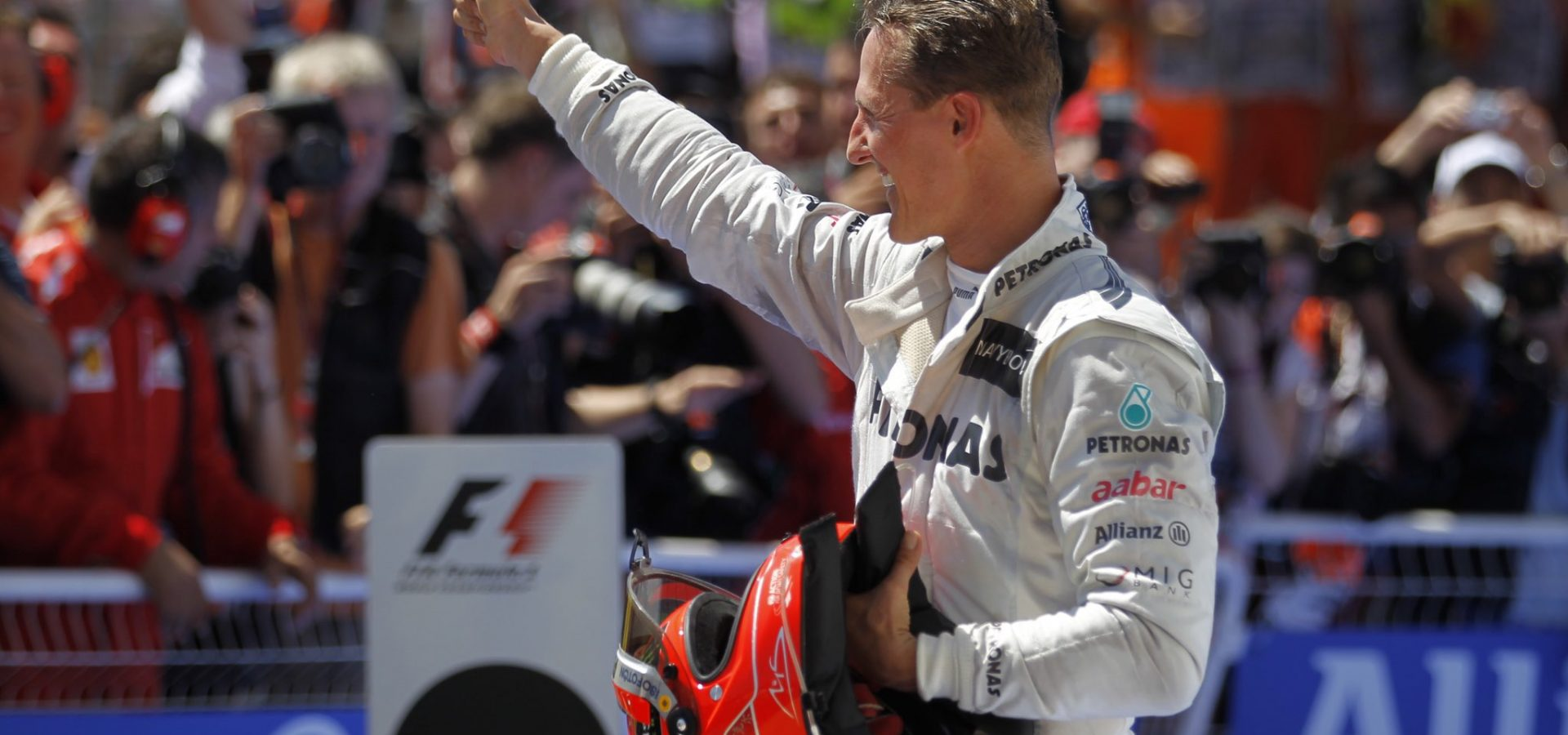 Michael Schumacher, 2012, European Grand Prix, Valencia, Mercedes, His last podium