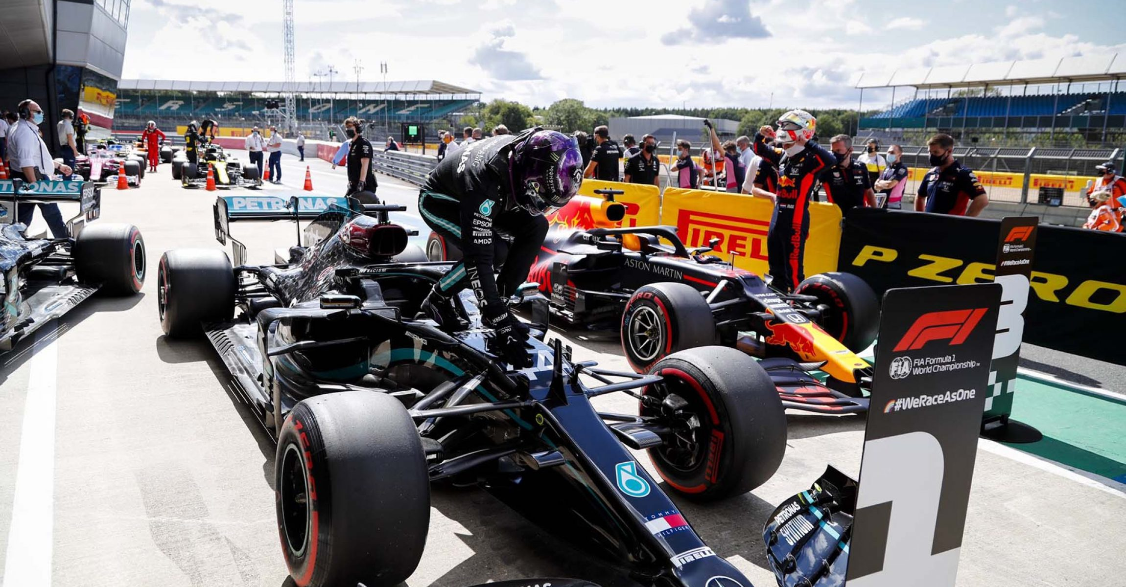 Lewis Hamilton Mercedes pole British Grand Prix 2020