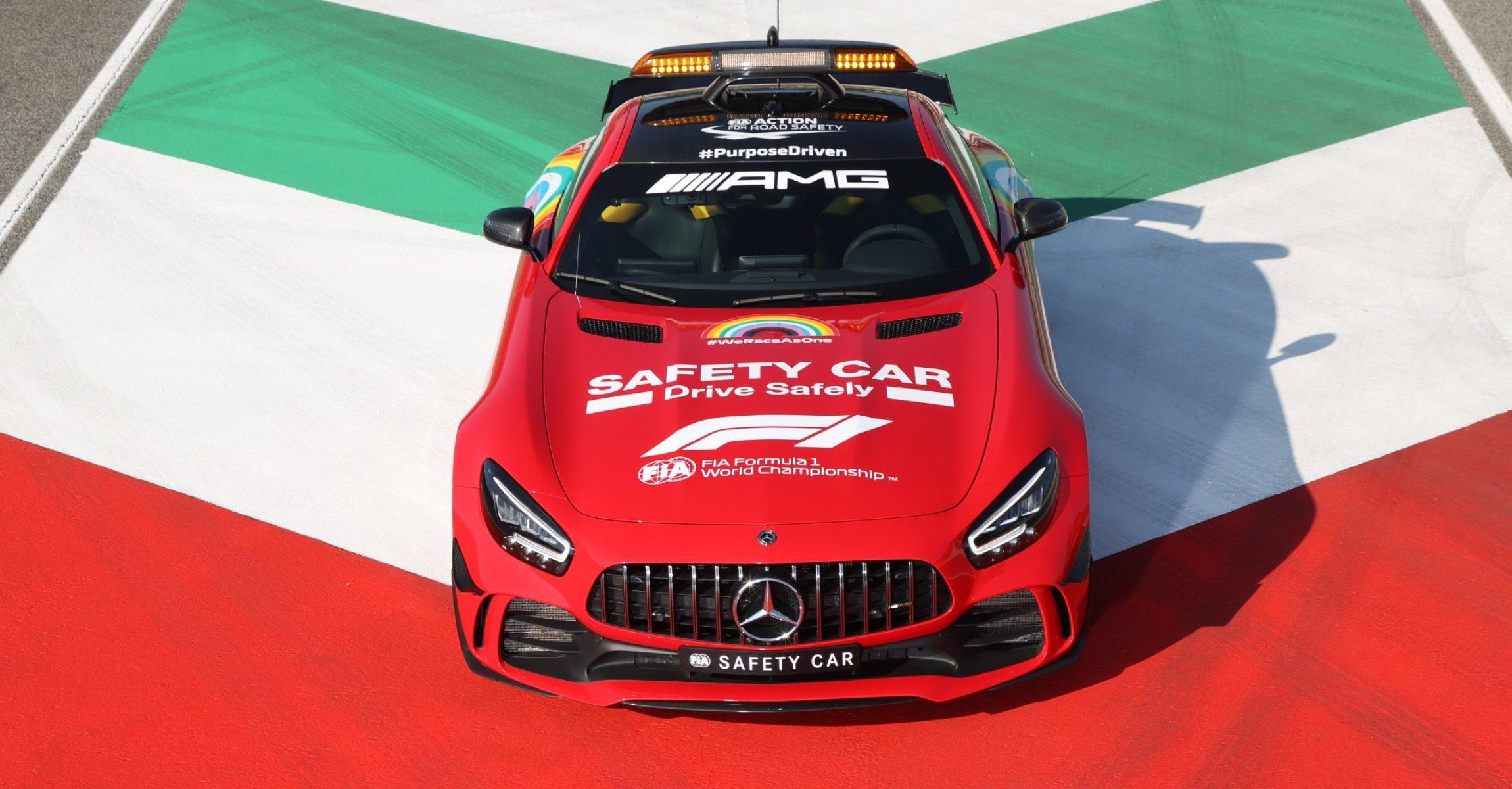 Mercedes red safety car Mugello