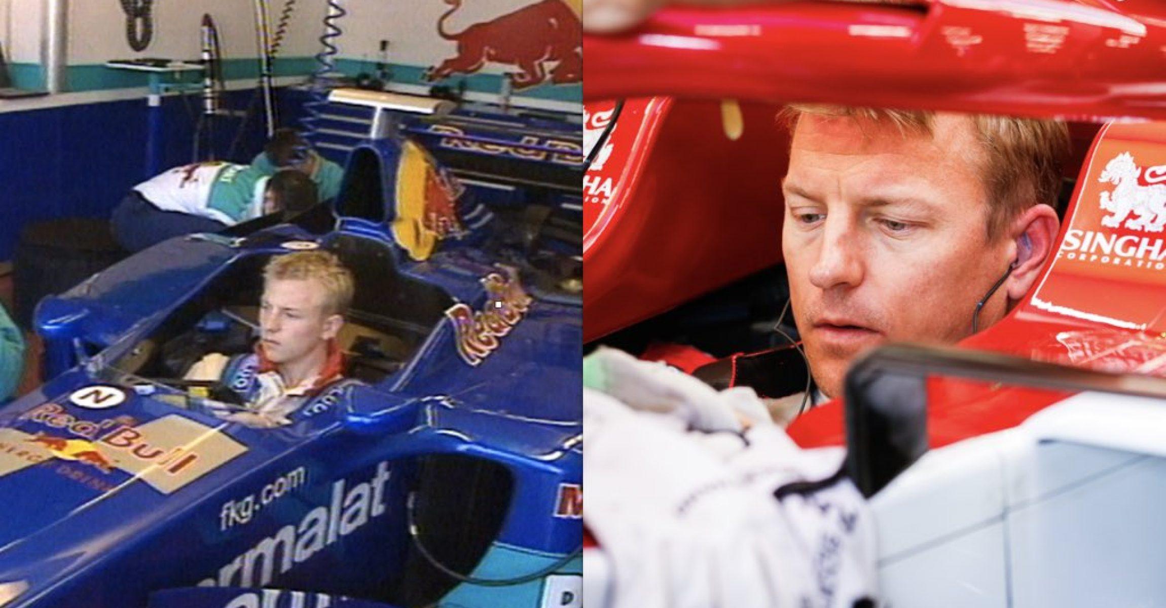 Kimi Räikkönen in 2000 and in 2020
