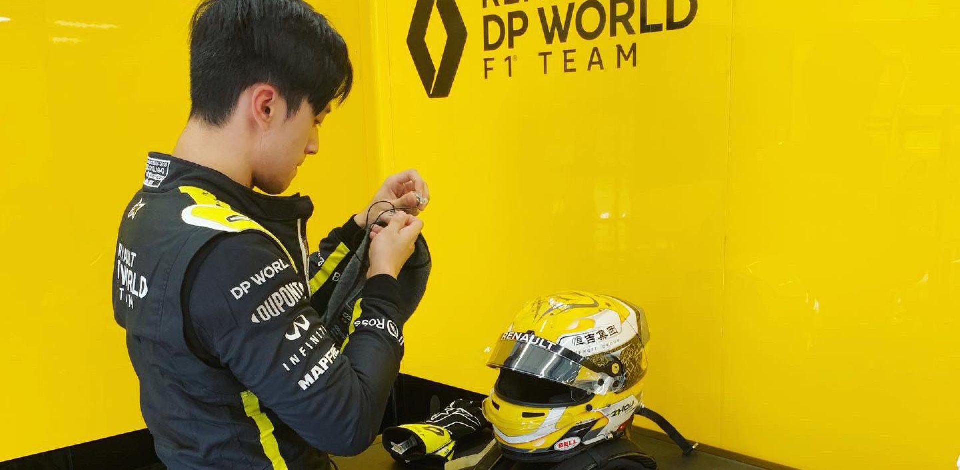 Guanyu Zhou, Hungaroring, Renault, test