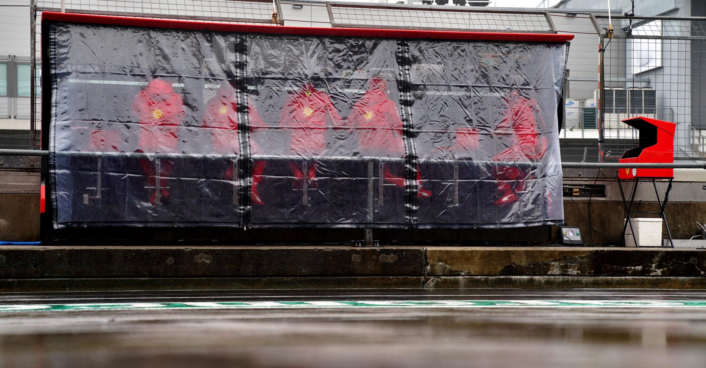 Ferrari pitwall rain