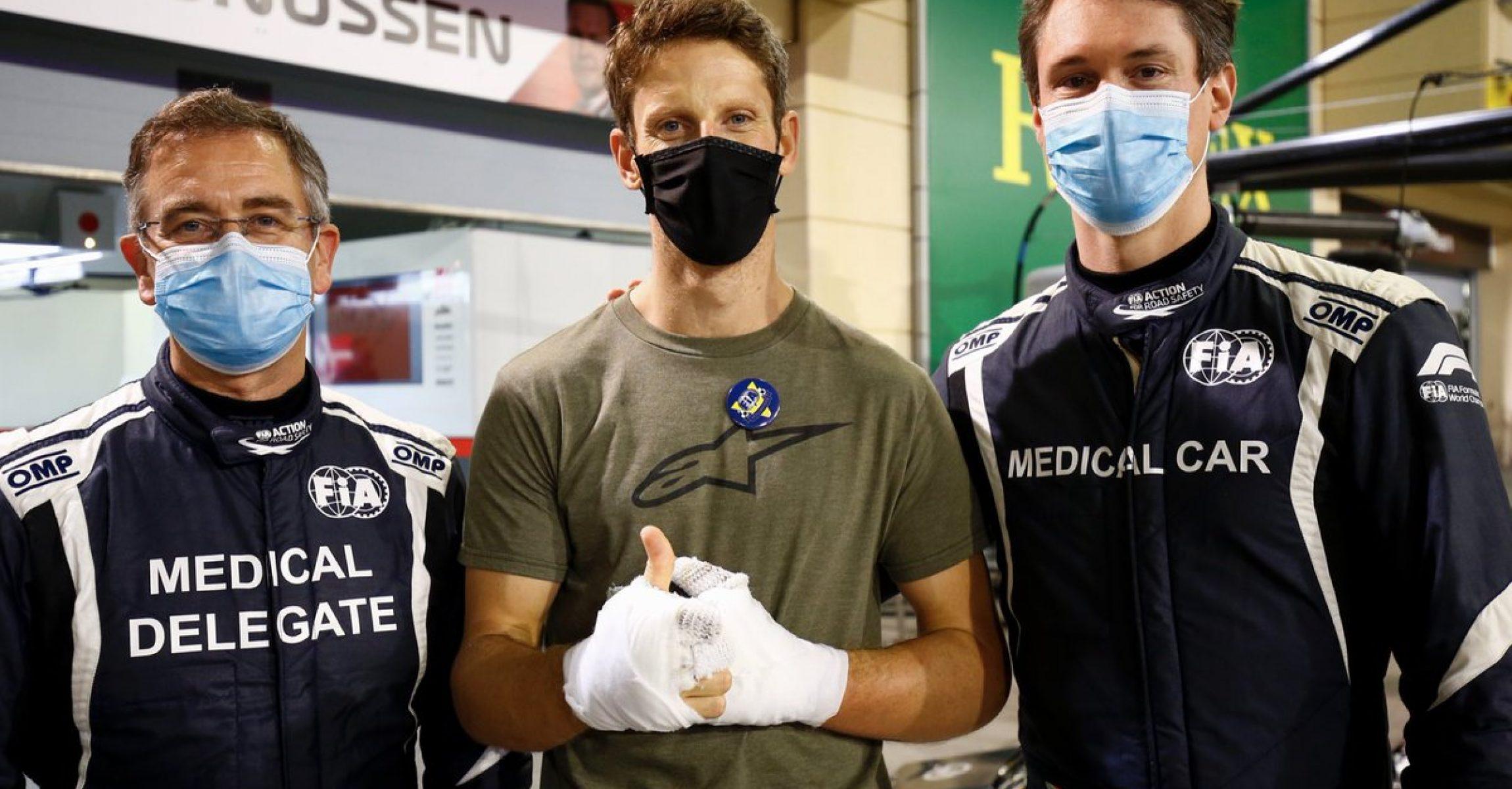 Dr. Ian Roberts, Romain Grosjean, Alan van der Merwe
