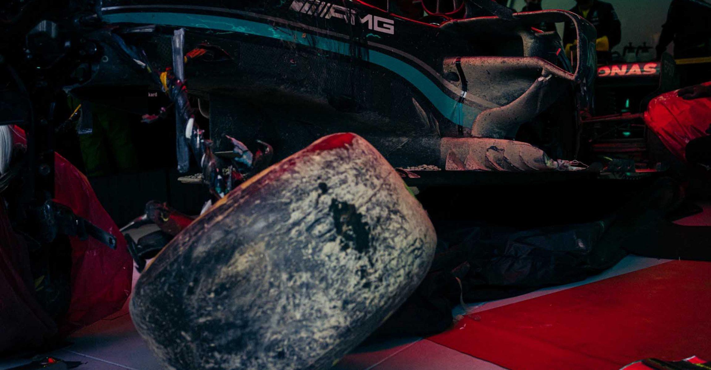 Valtteri Bottas Mercedes damage