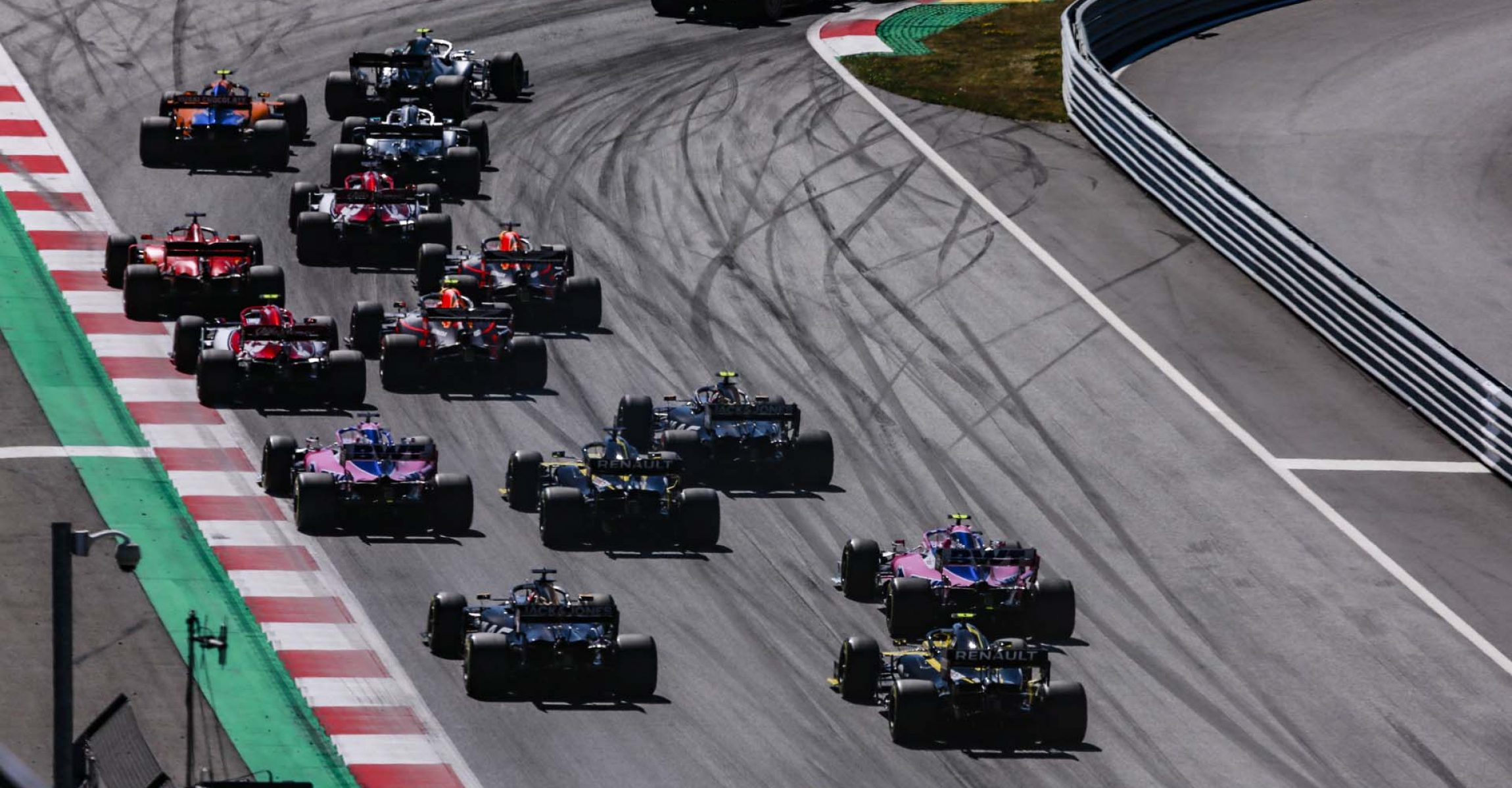 Race start of the race, depart, during the 2019 Formula One World Championship, Grand Prix of Austria from June 27 to 31, in Spielberg, Austria - Photo Xavi Bonilla / DPPI