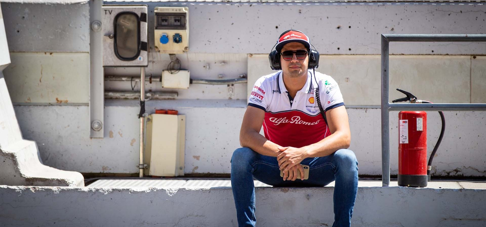 CORREA Juan Manuel (usa), Development Driver of Alfa Romeo Racing, portrait during Formula 1 tests from May 14 to 15, 2019 at Barcelona, Spain - Photo Antonin Vincent / DPPI