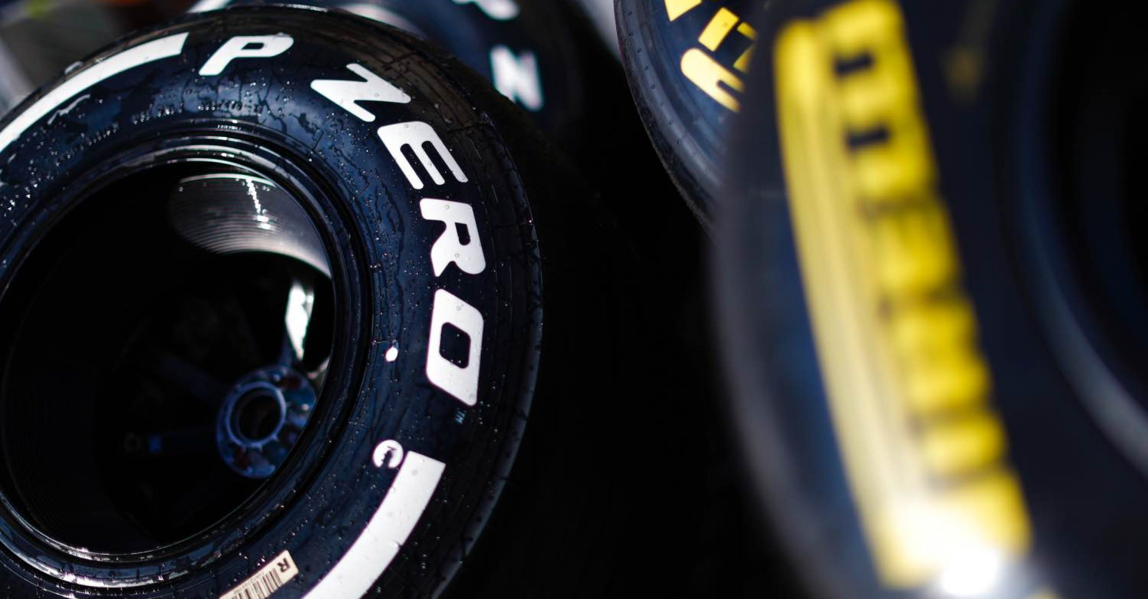 YAS MARINA CIRCUIT, UNITED ARAB EMIRATES - NOVEMBER 28: Pirelli tyres in the paddock during the Test Days at Yas Marina Circuit on November 28, 2018 in Yas Marina Circuit, United Arab Emirates. (Photo by Zak Mauger / LAT Images)