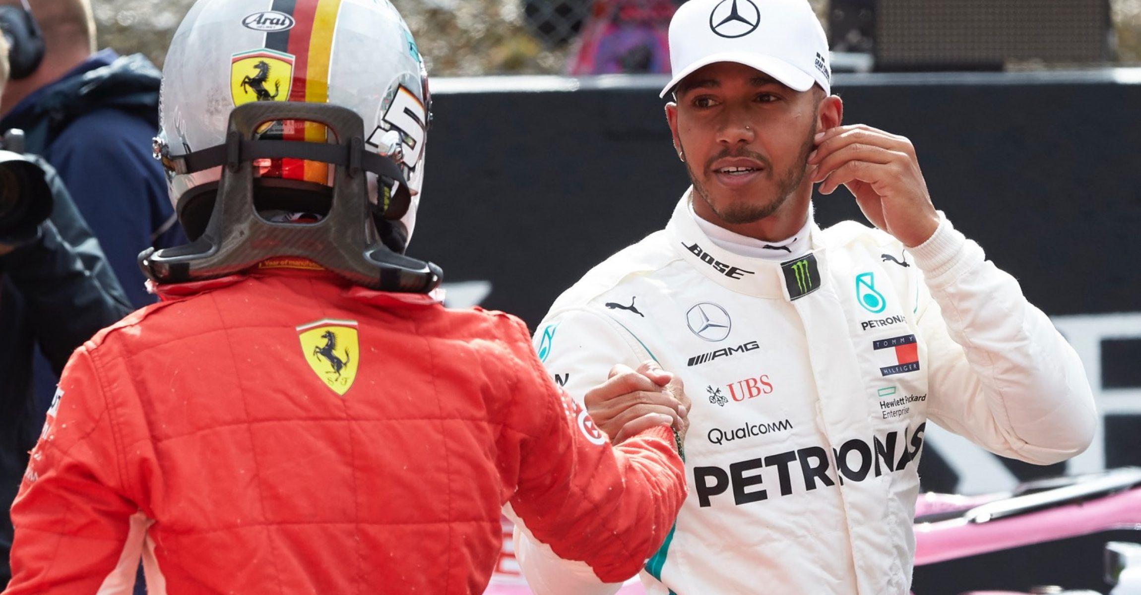 2018 Großer Preis von Belgien, Samstag - Steve Etherington Sebastian Vettel Lewis Hamilton Mercedes