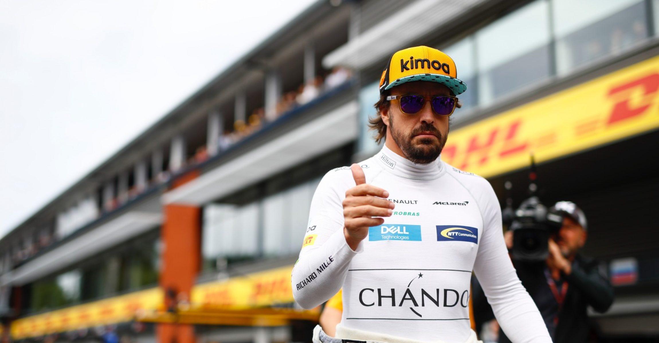 Spa-Francorchamps, Belgium. Sunday 26 August 2018. Fernando Alonso, McLaren. Photo: Glenn Dunbar/McLaren ref: Digital Image _X4I9926