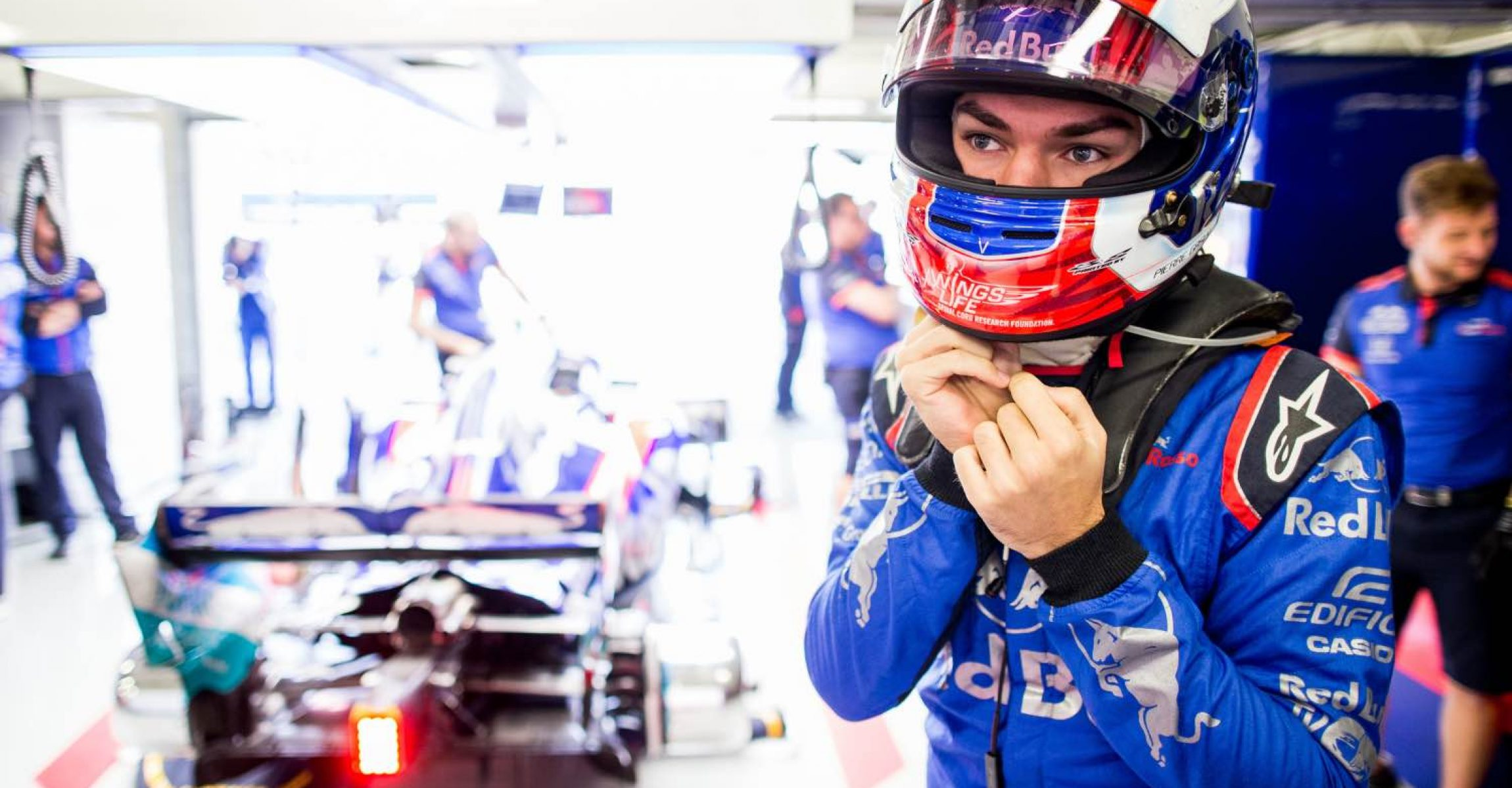 MEXICO CITY, MEXICO - OCTOBER 26:  Pierre Gasly of Scuderia Toro Rosso and France during practice for the Formula One Grand Prix of Mexico at Autodromo Hermanos Rodriguez on October 26, 2018 in Mexico City, Mexico.  (Photo by Peter Fox/Getty Images) // Getty Images / Red Bull Content Pool  // AP-1XAU9HZBH2111 // Usage for editorial use only // Please go to www.redbullcontentpool.com for further information. //
