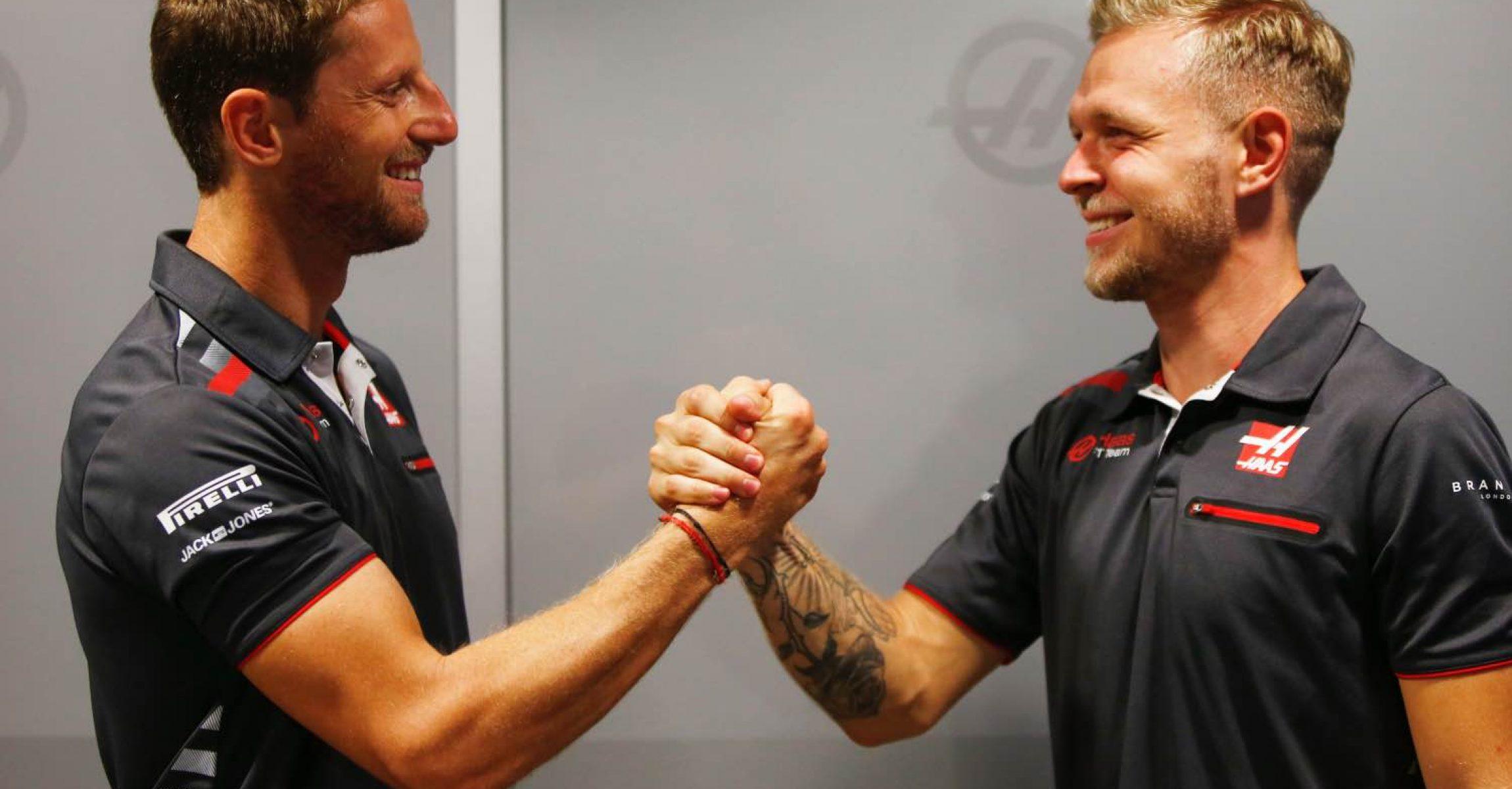 Romain Grosjean Kevin Magnussen Haas