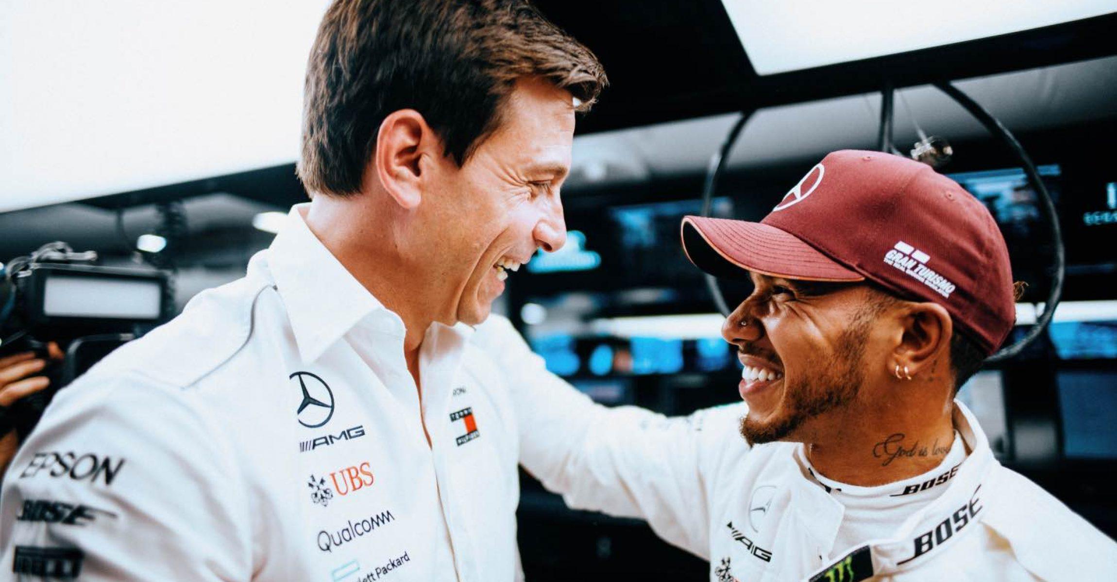 2018 Großer Preis von Singapur, Samstag - Paul Ripke Toto Wolff Mercedes Lewis Hamilton