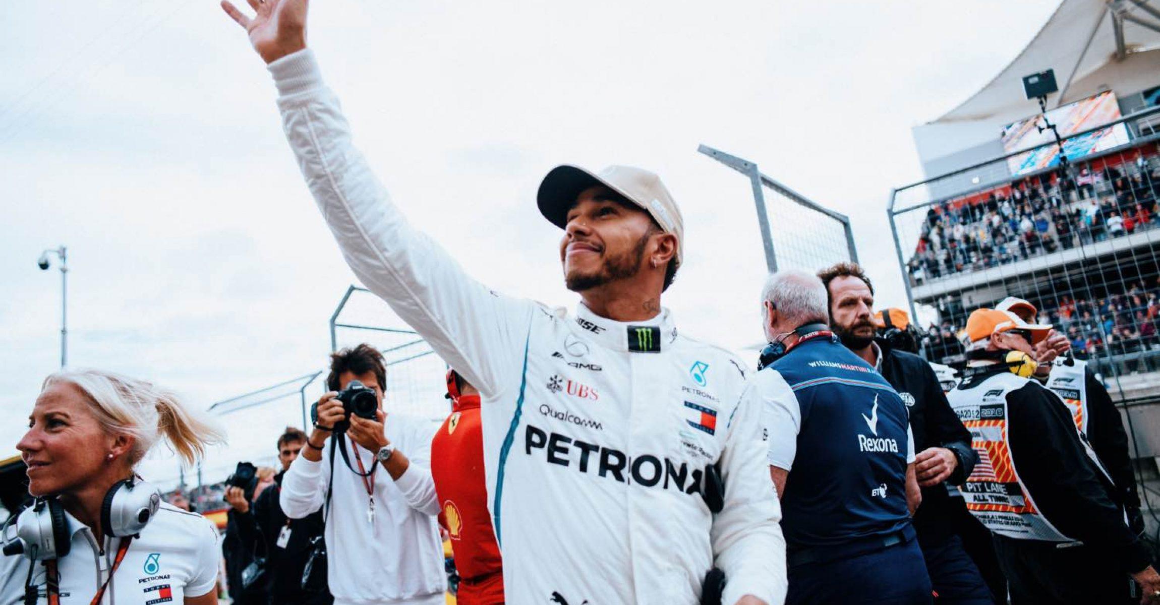 2018 United States Grand Prix, Saturday - Paul Ripke Lewis Hamilton Mercedes