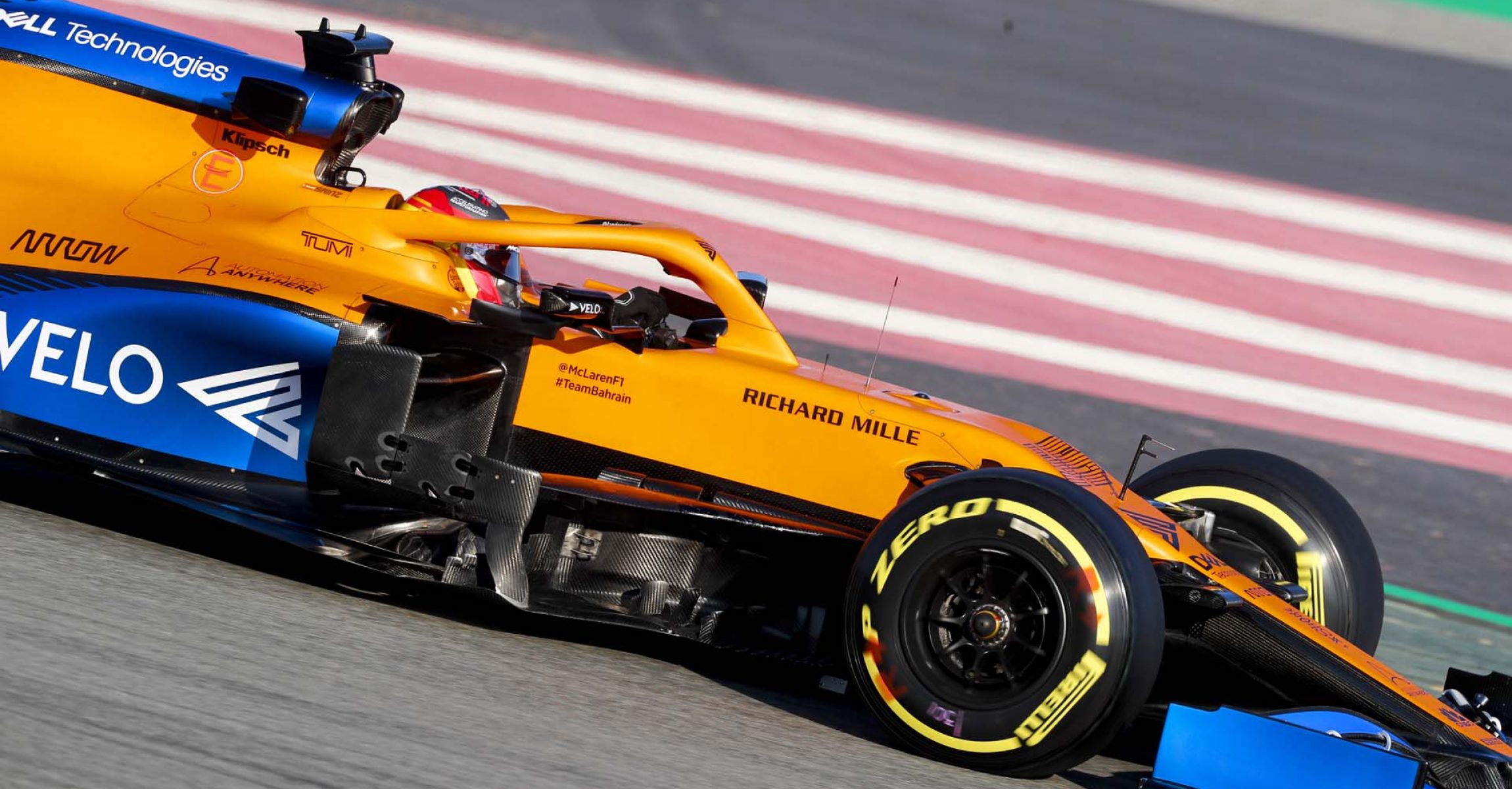CIRCUIT DE BARCELONA-CATALUNYA, SPAIN - FEBRUARY 19: Carlos Sainz, McLaren MCL35 during the Barcelona February testing I at Circuit de Barcelona-Catalunya on February 19, 2020 in Circuit de Barcelona-Catalunya, Spain. (Photo by Steven Tee / LAT Images)