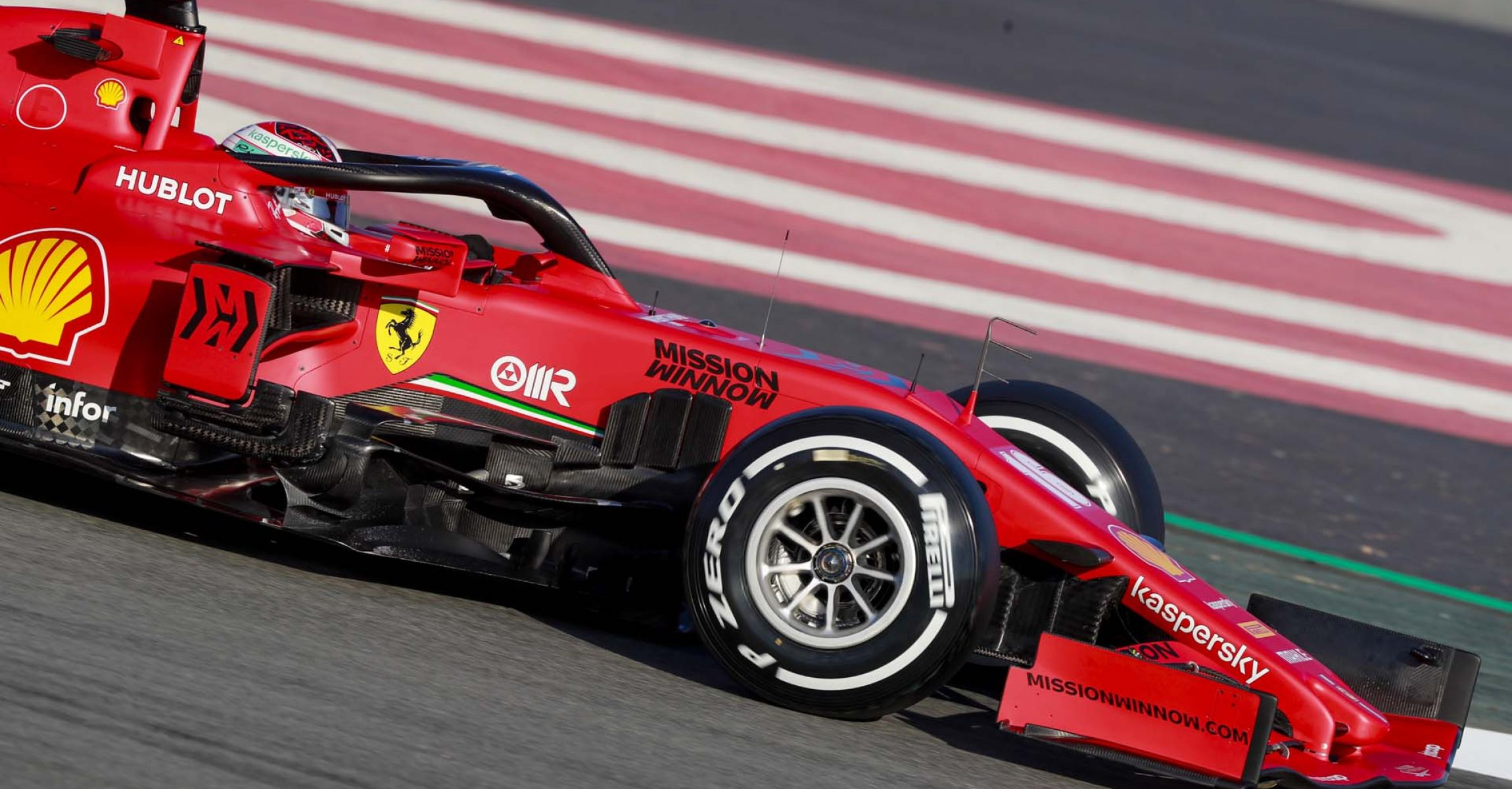 CIRCUIT DE BARCELONA-CATALUNYA, SPAIN - FEBRUARY 19: Charles Leclerc, Ferrari SF1000 during the Barcelona February testing I at Circuit de Barcelona-Catalunya on February 19, 2020 in Circuit de Barcelona-Catalunya, Spain. (Photo by Steven Tee / LAT Images)