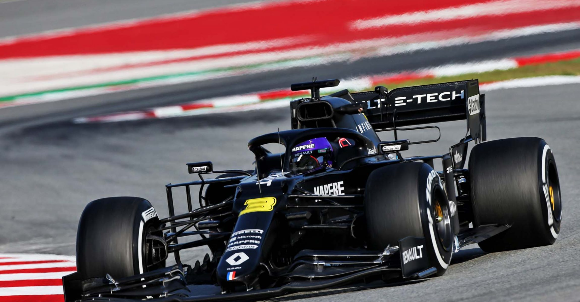 Daniel Ricciardo (AUS) Renault F1 Team RS20. Formula One Testing, Day 1, Wednesday 19th February 2020. Barcelona, Spain.