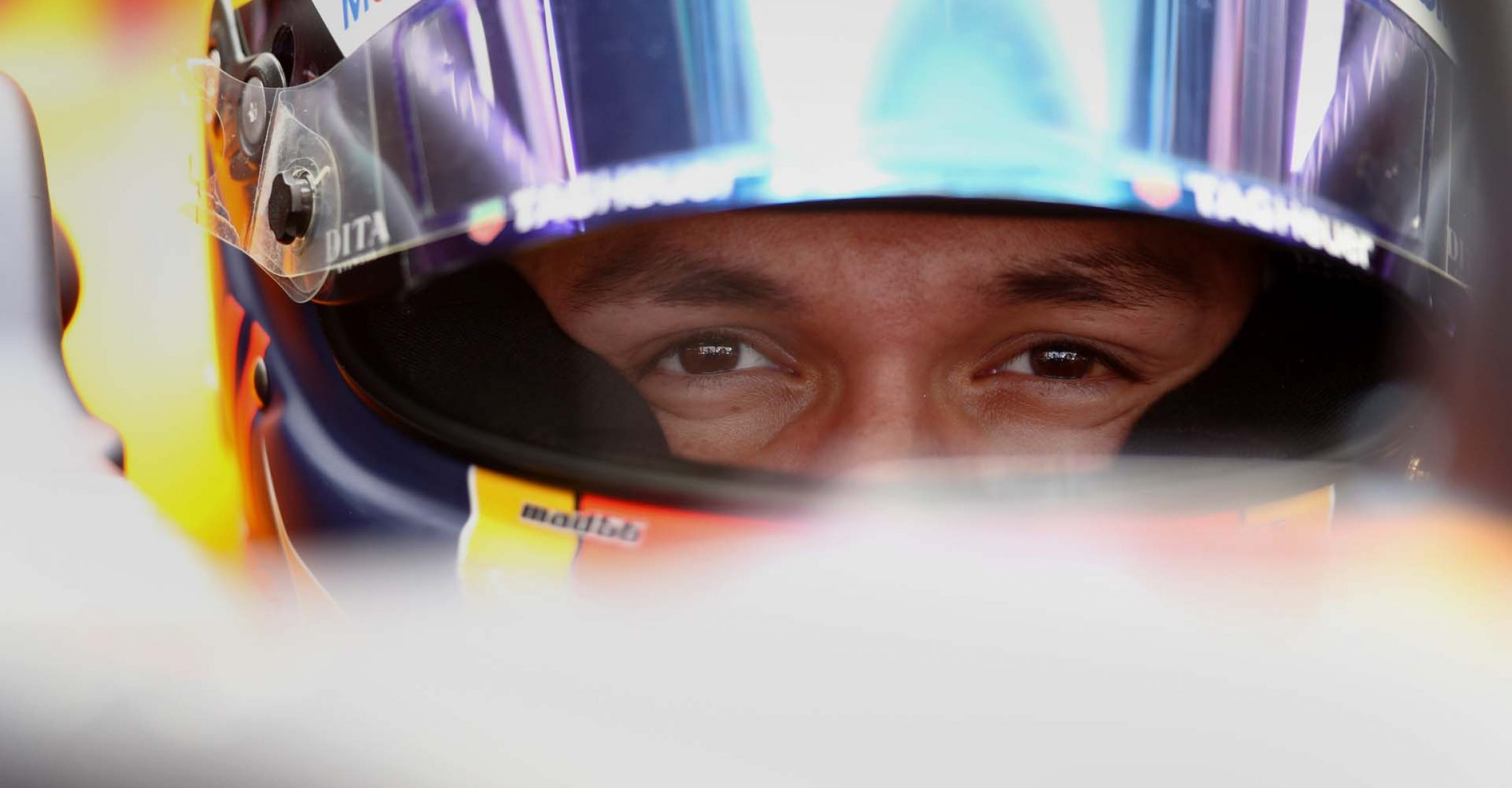BARCELONA, SPAIN - FEBRUARY 20: Alexander Albon of Thailand and Red Bull Racing prepares to drive in the garage during day two of F1 Winter Testing at Circuit de Barcelona-Catalunya on February 20, 2020 in Barcelona, Spain. (Photo by Mark Thompson/Getty Images) // Getty Images / Red Bull Content Pool  // AP-235X2QGFN2111 // Usage for editorial use only //