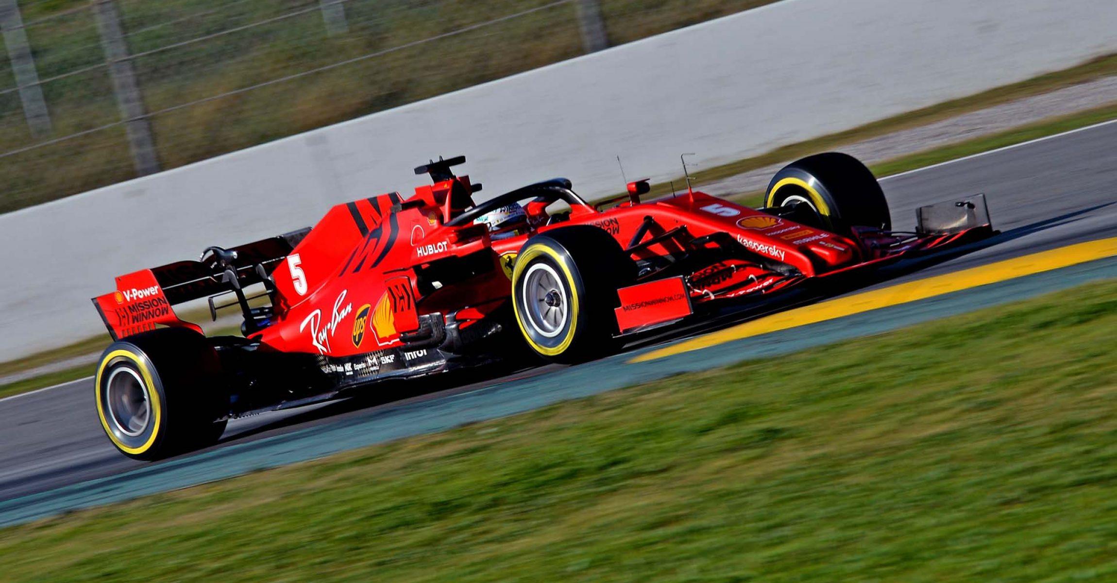 TEST T1 BARCELLONA - VENERDì 21/02/20 Sebastian Vettel Ferrari