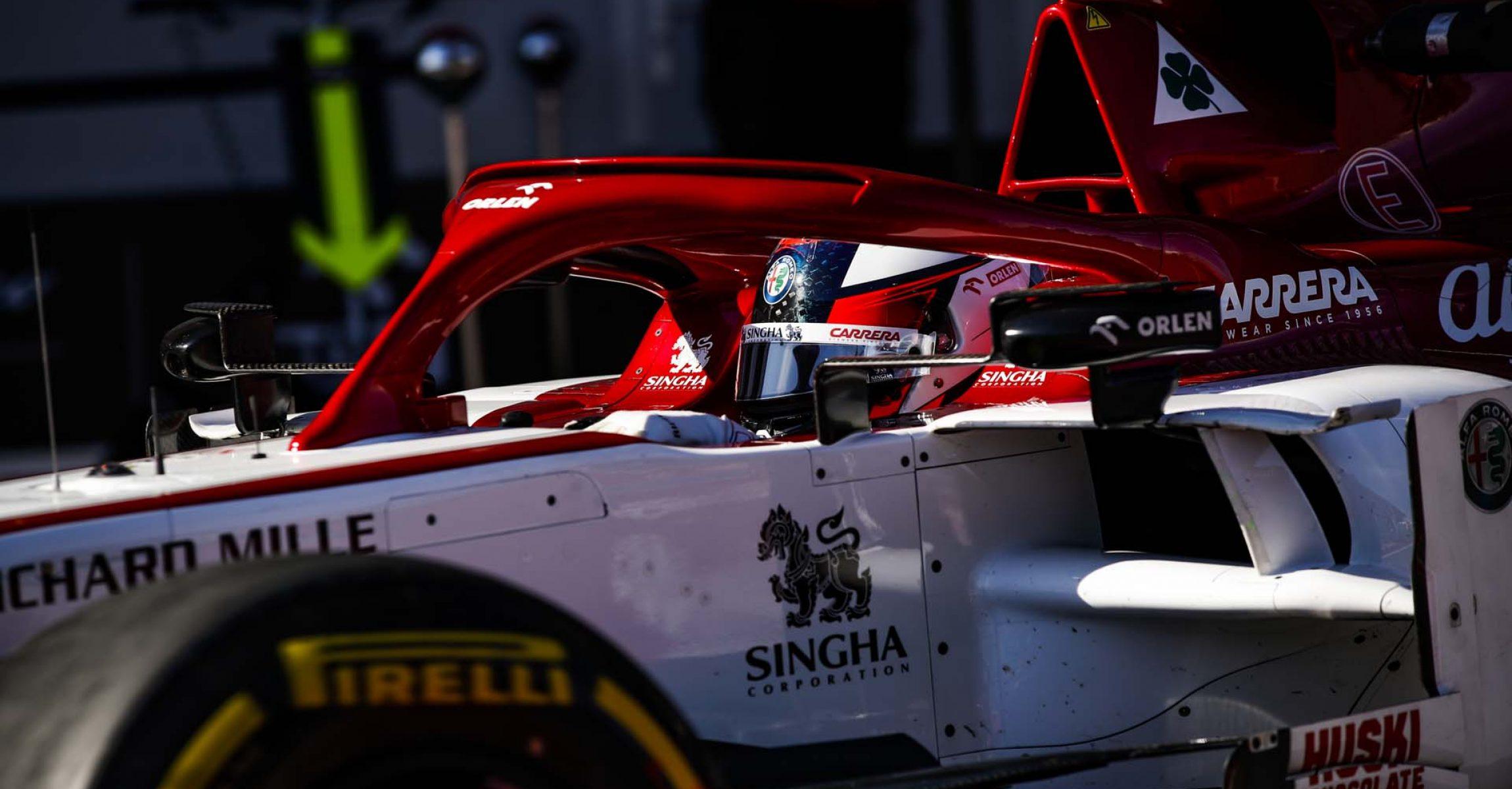 RAIKKONEN Kimi Räikkönen (fin), Alfa Romeo Racing C39, action during the second session of the Formula 1 Pre-season testing 2020 from February 26 to 28, 2020 on the Circuit de Barcelona-Catalunya, in Montmelo, Barcelona, Spain - Photo Florent Gooden / DPPI
