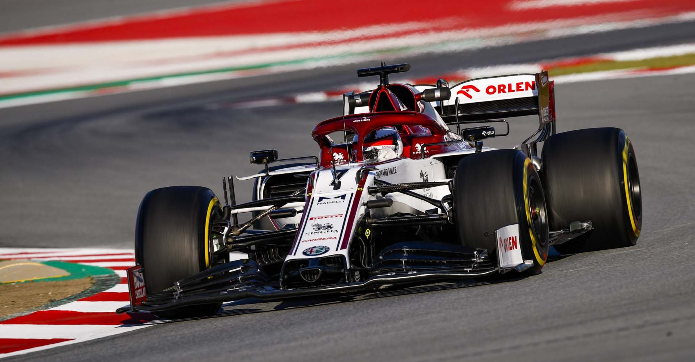 RAIKKONEN Kimi Räikkönen (fin), Alfa Romeo Racing C39, action during the second session of the Formula 1 Pre-season testing 2020 from February 26 to 28, 2020 on the Circuit de Barcelona-Catalunya, in Montmelo, Barcelona, Spain - Photo Florent Gooden / DPPI
