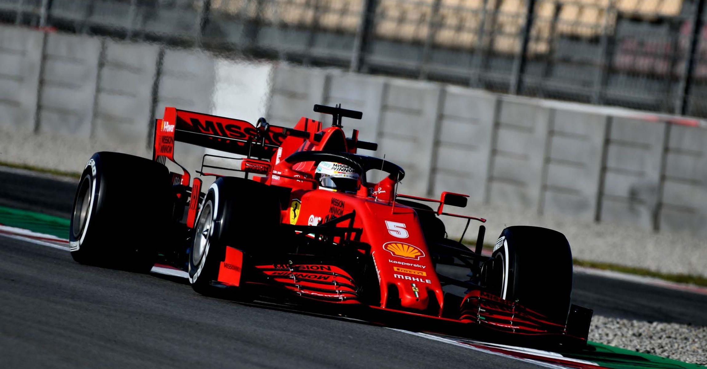 TEST T2 BARCELLONA 2020 - MERCOLEDÌ 26/02/2020 Sebastian Vettel Ferrari
