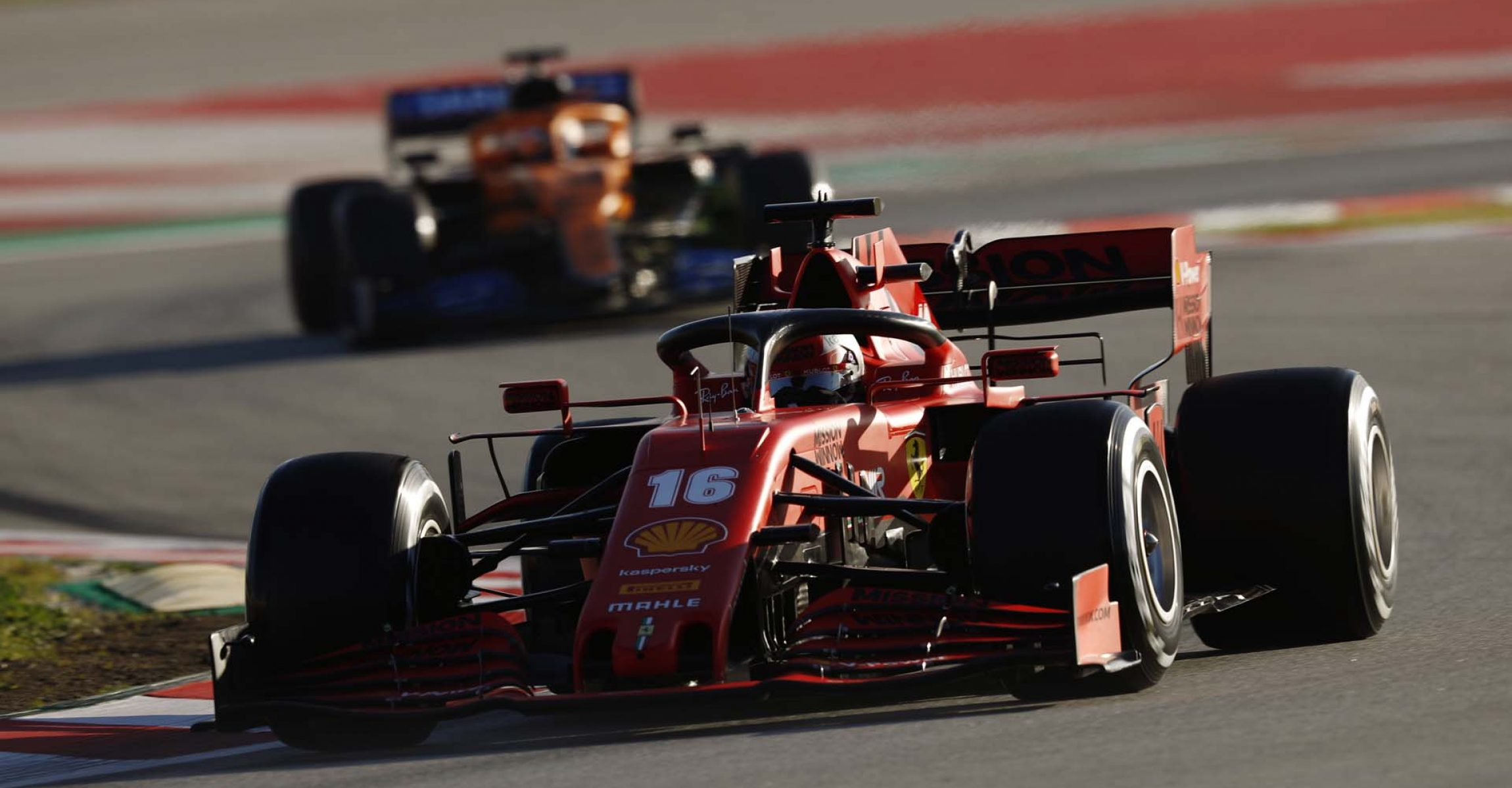 CIRCUIT DE BARCELONA-CATALUNYA, SPAIN - FEBRUARY 28: Charles Leclerc, Ferrari SF1000 during the Barcelona February testing II at Circuit de Barcelona-Catalunya on February 28, 2020 in Circuit de Barcelona-Catalunya, Spain. (Photo by Glenn Dunbar / LAT Images)
