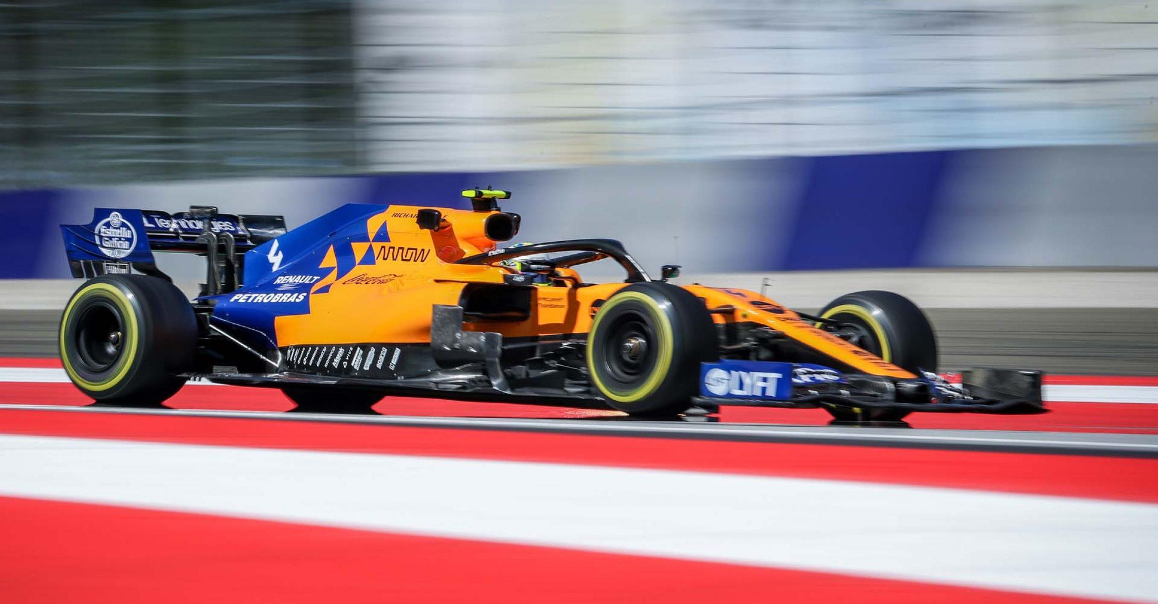 SPIELBERG,AUSTRIA,28.JUN.19 - MOTORSPORTS, FORMULA 1 - Grand Prix of Austria, Red Bull Ring, free practice. Image shows Lando Norris (GBR/ McLaren). Photo: GEPA pictures/ Harald Steiner - For editorial use only. Image is free of charge.