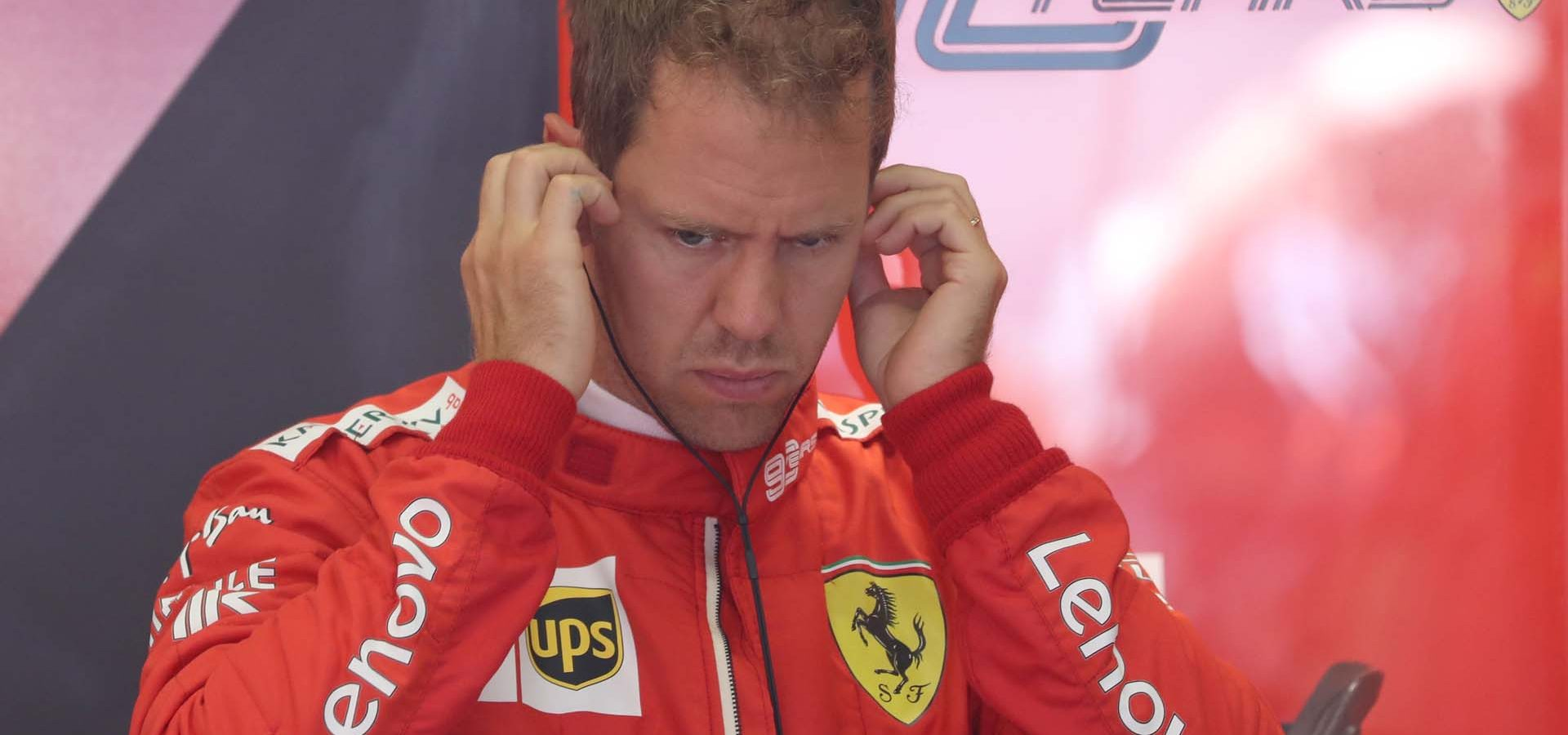 SPIELBERG,AUSTRIA,28.JUN.19 - MOTORSPORTS, FORMULA 1 - Grand Prix of Austria, Red Bull Ring, free practice. Image shows Sebastian Vettel (GER/ Ferrari).  Photo: GEPA pictures/ Andreas Pranter - For editorial use only. Image is free of charge.