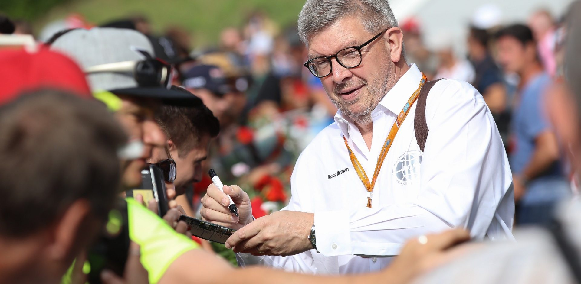 SPIELBERG,AUSTRIA,08.JUL.17 - MOTORSPORTS, FORMULA 1 - Grand Prix of Austria, Red Bull Ring, Styrian Green Carpet. Image shows managing director Ross Brawn (F1/ Motorsports). Photo: GEPA pictures/ Christian Walgram - For editorial use only. Image is free of charge.