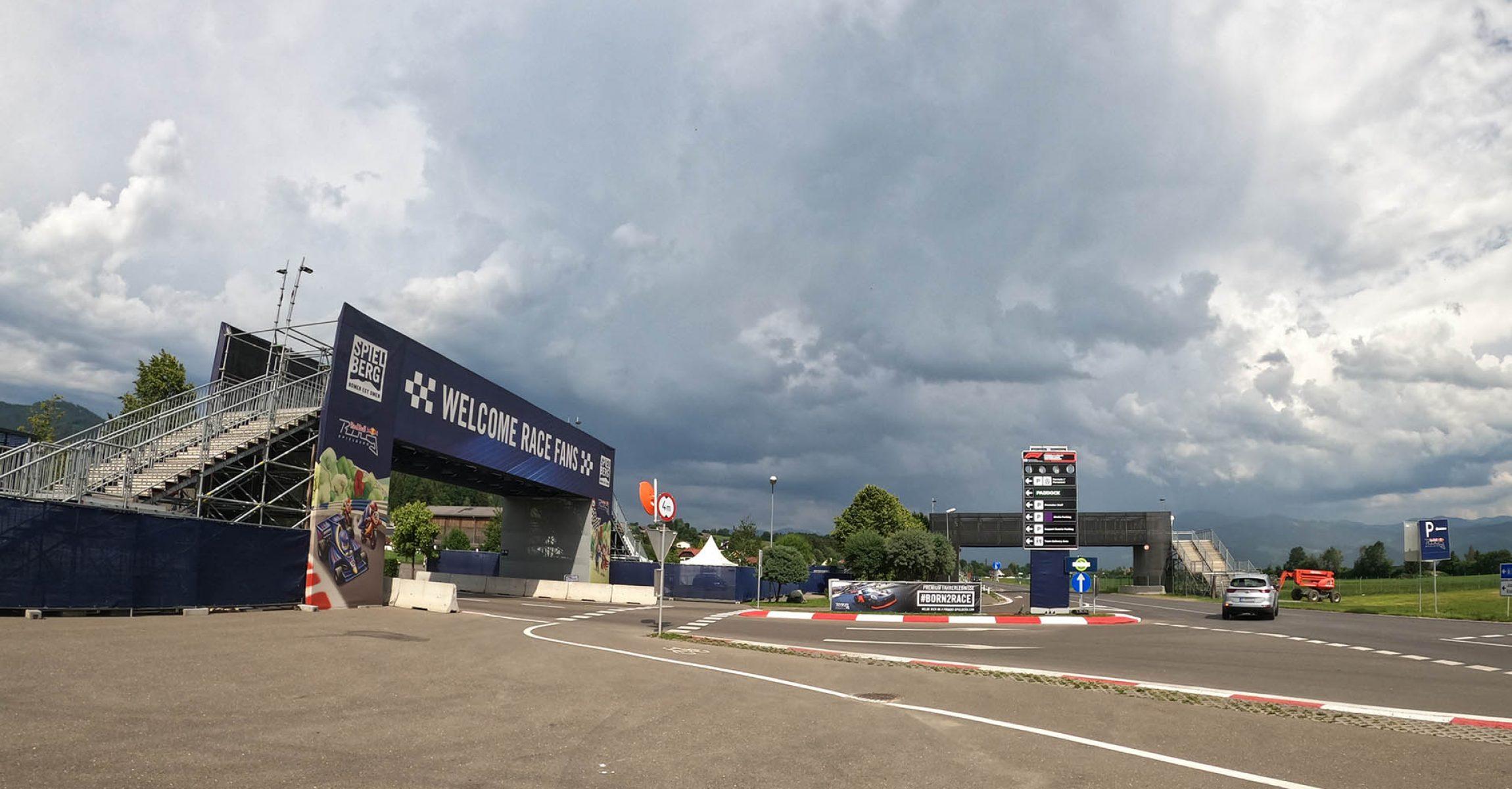 Red Bull Ring entrance, 2020