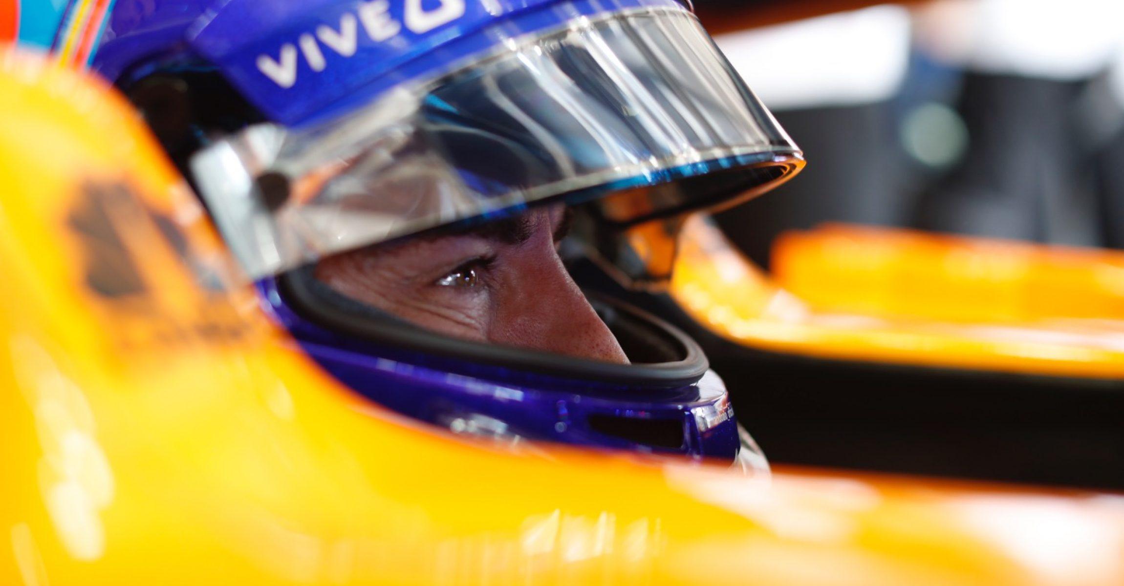Hockenheimring, Hockenheim, Germany Friday 20 July 2018. Fernando Alonso, McLaren, in his cockpit. Photo: Steven Tee/McLaren ref: Digital Image _2ST0087