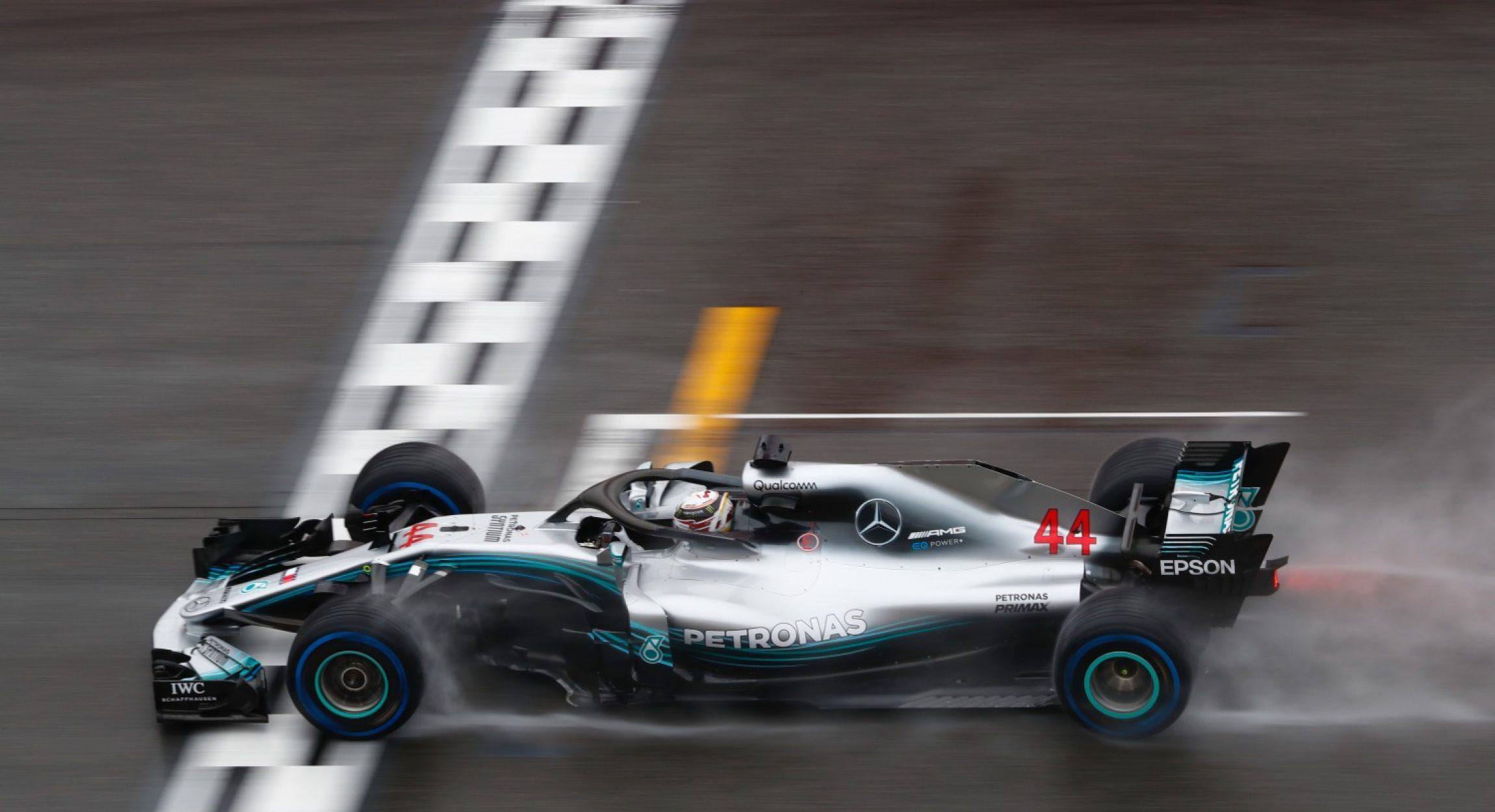 2018 Großer Preis von Deutschland, Samstag - Wolfgang Wilhelm Lewis Hamilton Mercedes wet
