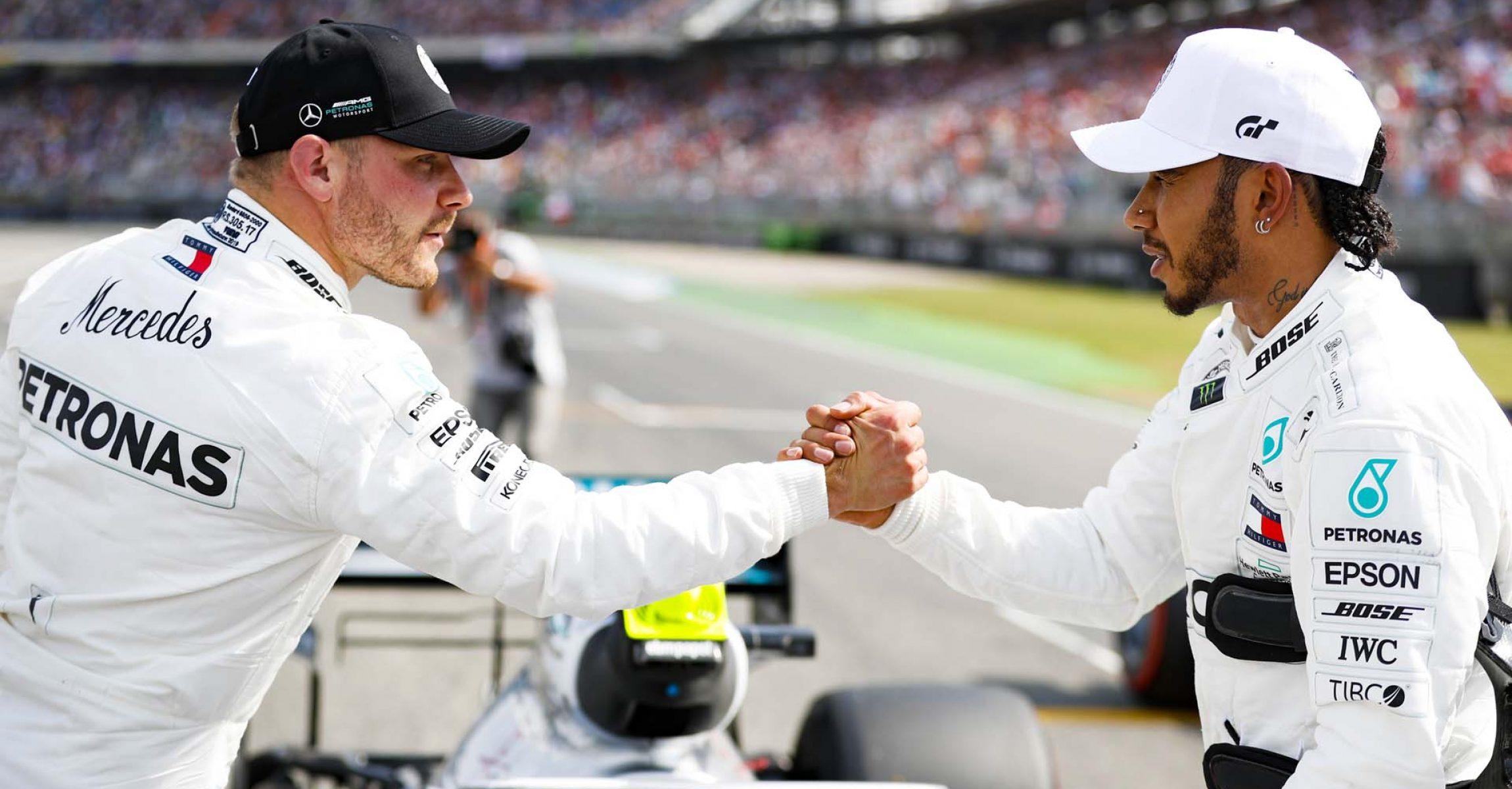 2019 German Grand Prix, Saturday - LAT Images Valtteri Bottas Mercedes Lewis Hamilton