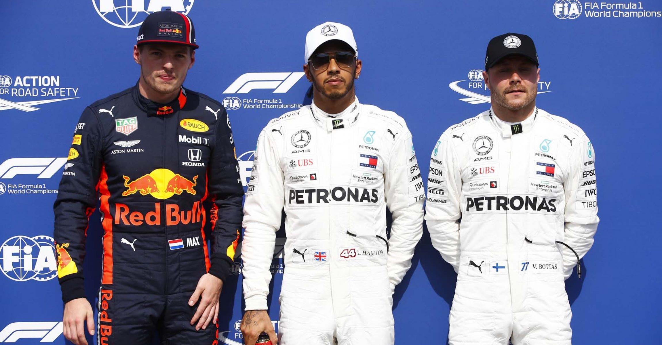 2019 German Grand Prix, Saturday - LAT Images Max Verstappen Lewis Hamilton Valtteri Bottas Mercedes