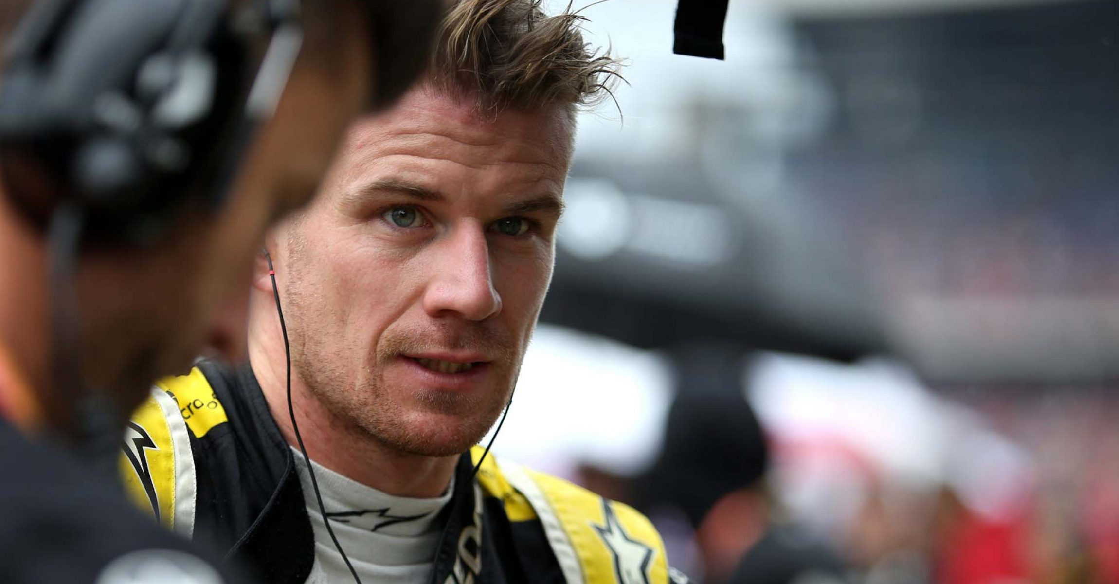 Nico Hulkenberg (GER) Renault F1 Team on the grid. German Grand Prix, Sunday 28th July 2019. Hockenheim, Germany.