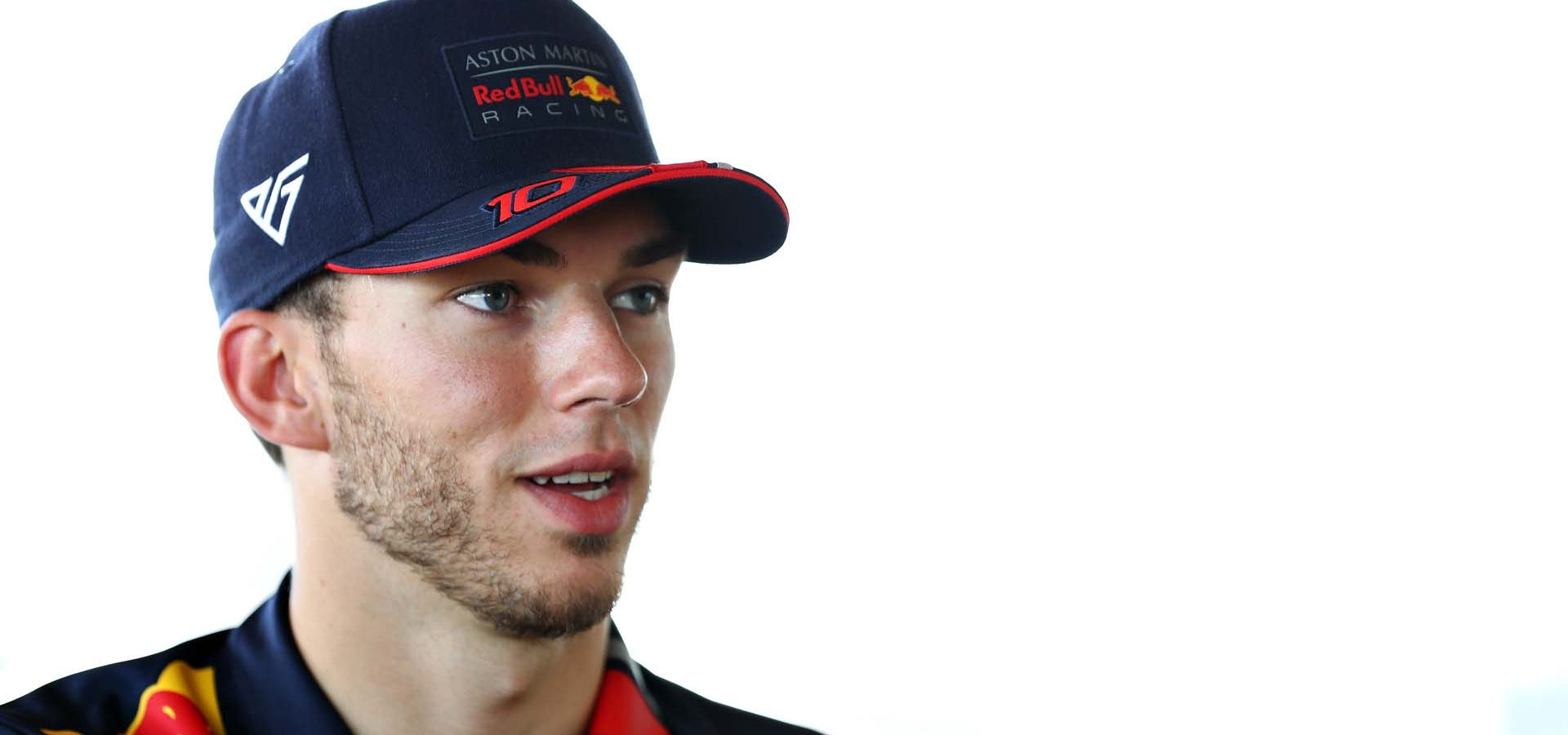 HOCKENHEIM, GERMANY - JULY 25: Pierre Gasly of France and Red Bull Racing talks to the media in the Paddock during previews ahead of the F1 Grand Prix of Germany at Hockenheimring on July 25, 2019 in Hockenheim, Germany. (Photo by Mark Thompson/Getty Images) // Getty Images / Red Bull Content Pool  // AP-212AKZVMW2511 // Usage for editorial use only // Please go to www.redbullcontentpool.com for further information. //